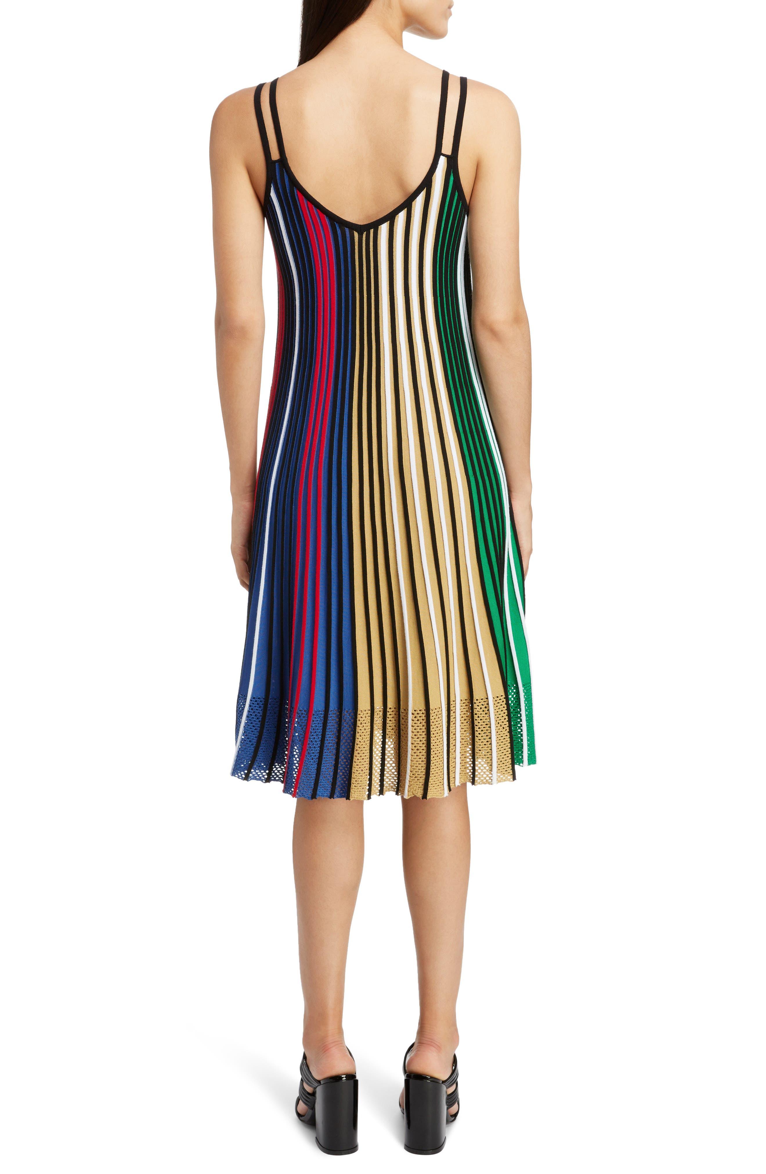 Pleated Rib Knit Dress,                             Alternate thumbnail 2, color,                             MULTICOLOR