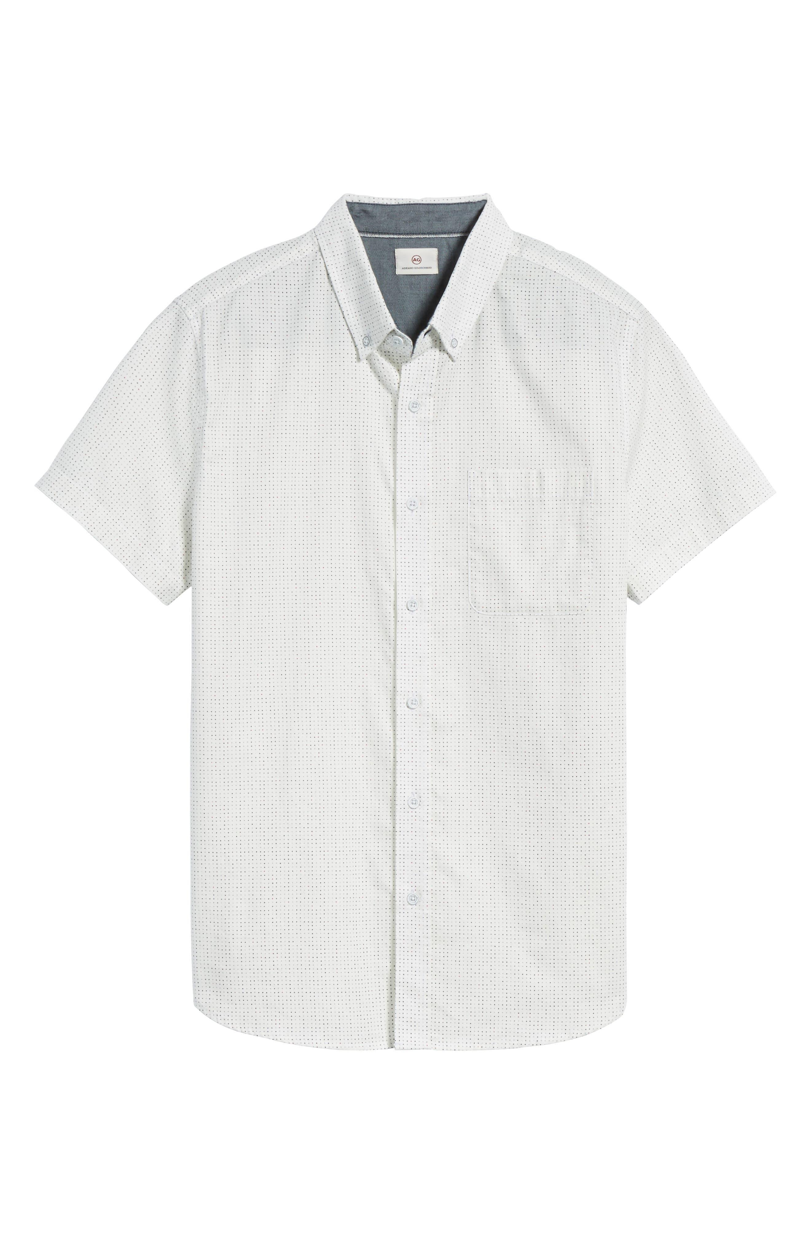 Nash Slim Fit Cotton Sport Shirt,                             Alternate thumbnail 6, color,                             100