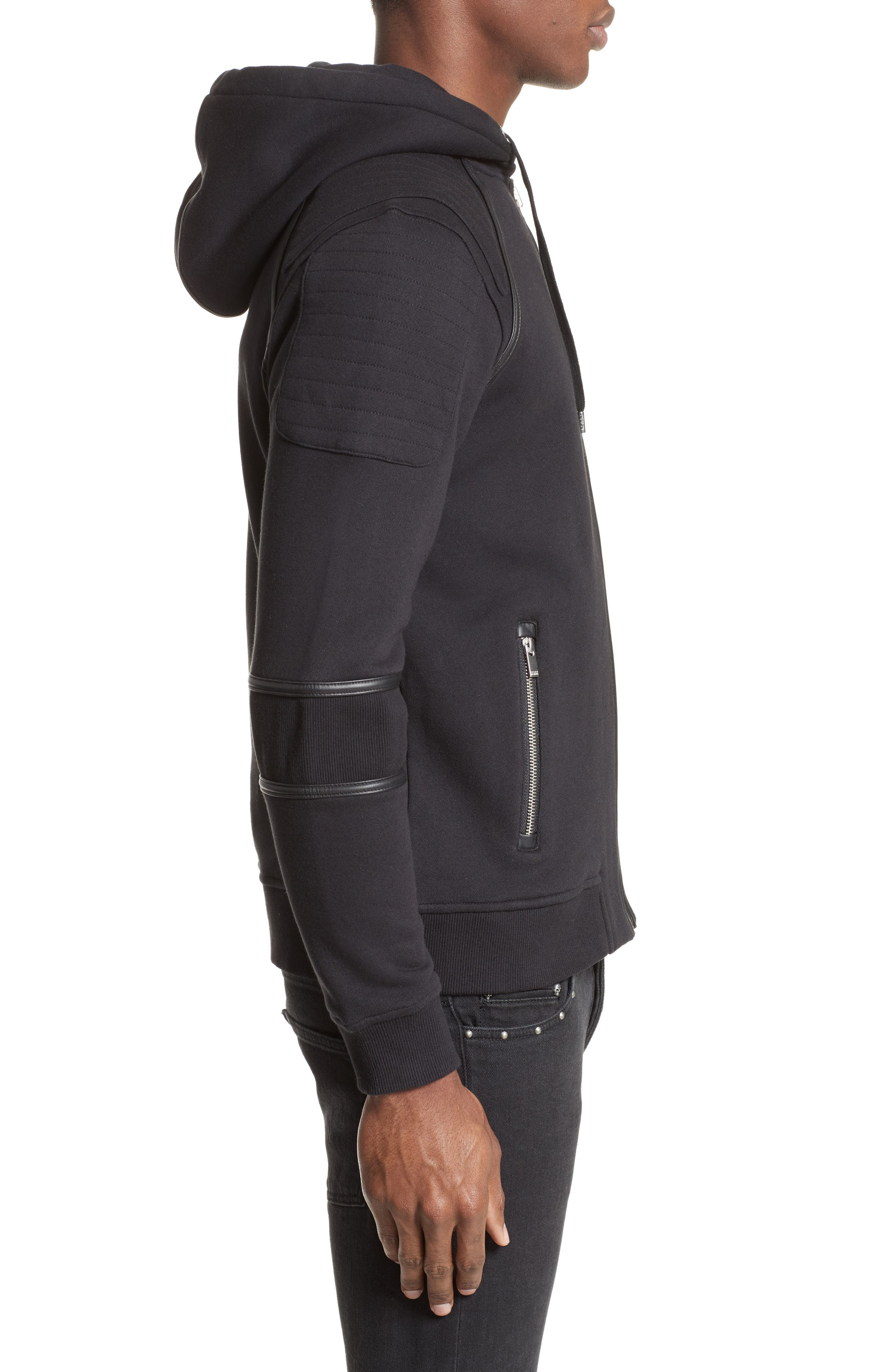 Zip Front Hoodie,                             Alternate thumbnail 3, color,