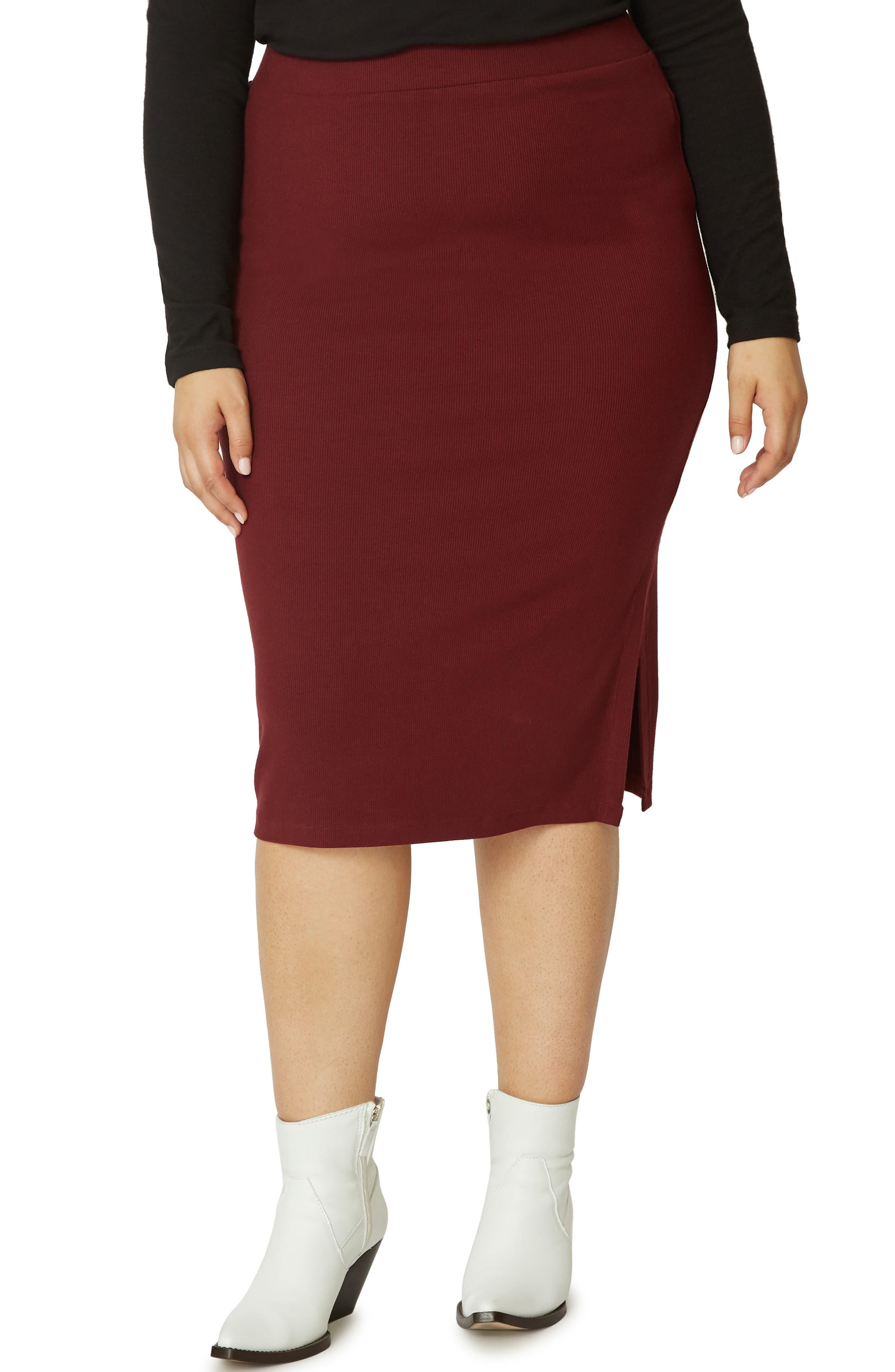 Plus Size Sanctuary Essentials Knit Skirt