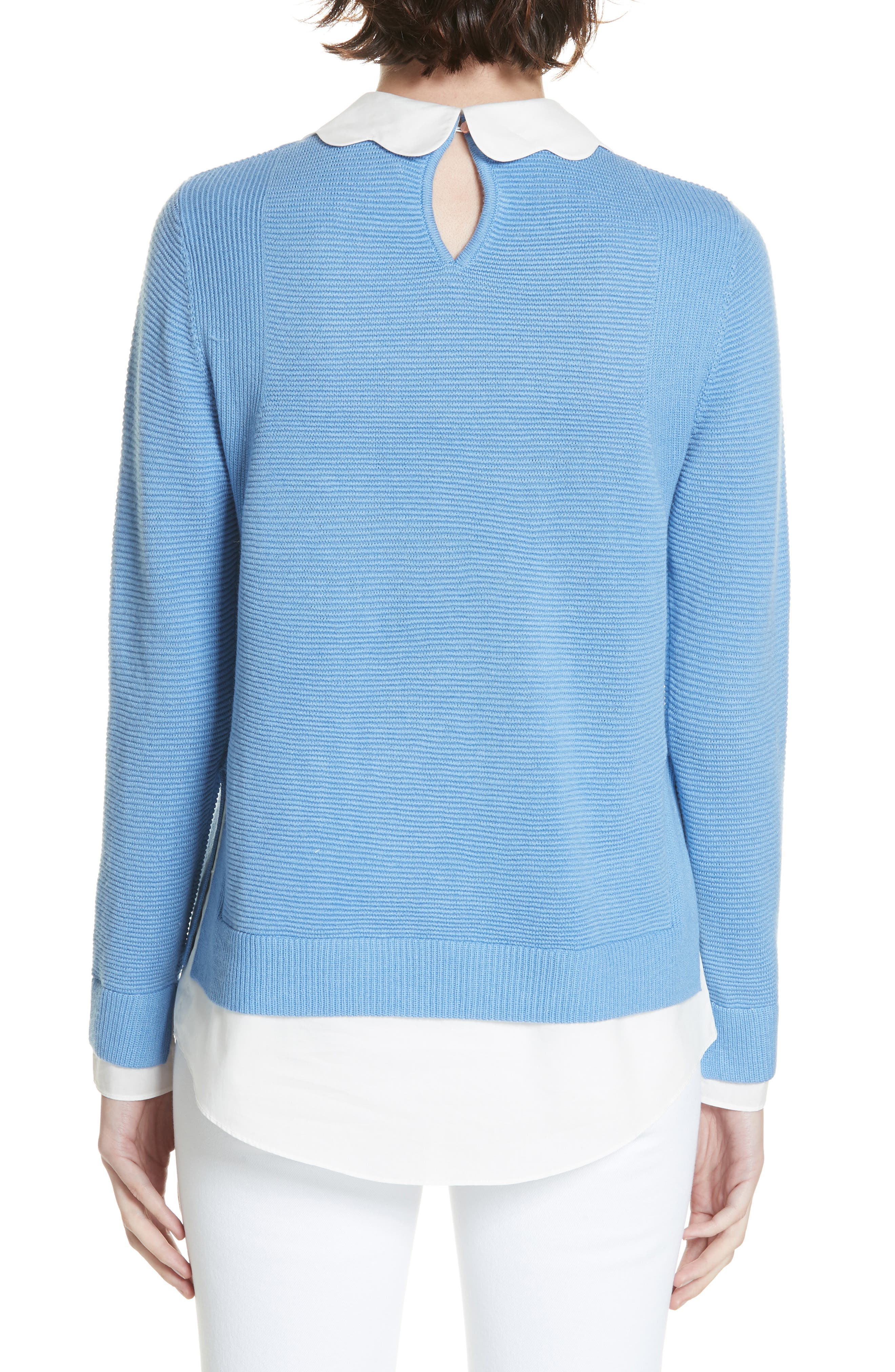 Bronwen Scalloped Collar Sweater,                             Alternate thumbnail 2, color,                             424