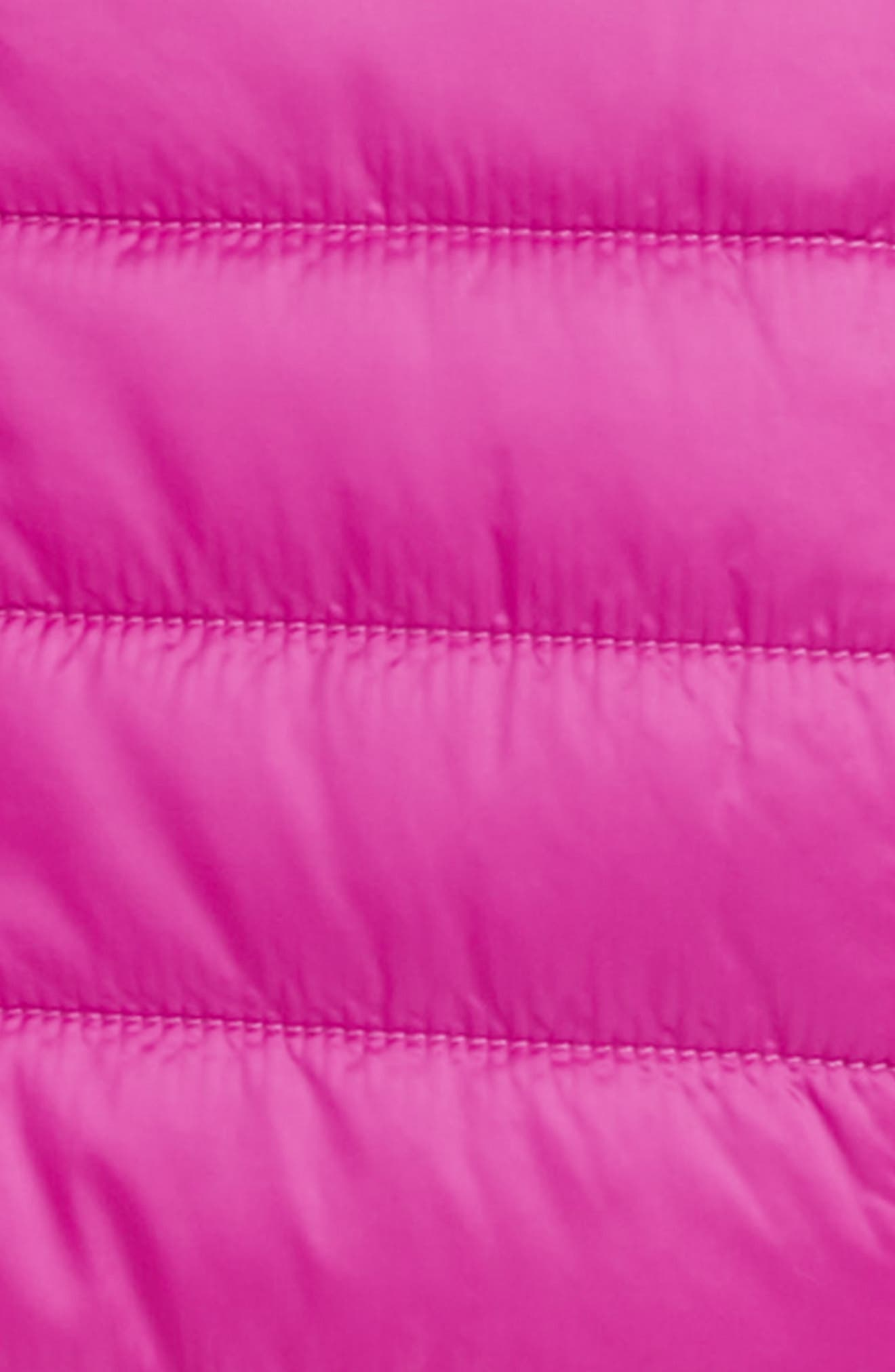 Mossbud Swirl Insulated Reversible Jacket,                             Alternate thumbnail 3, color,                             AZALEA PINK/ DRAMATIC PLUM