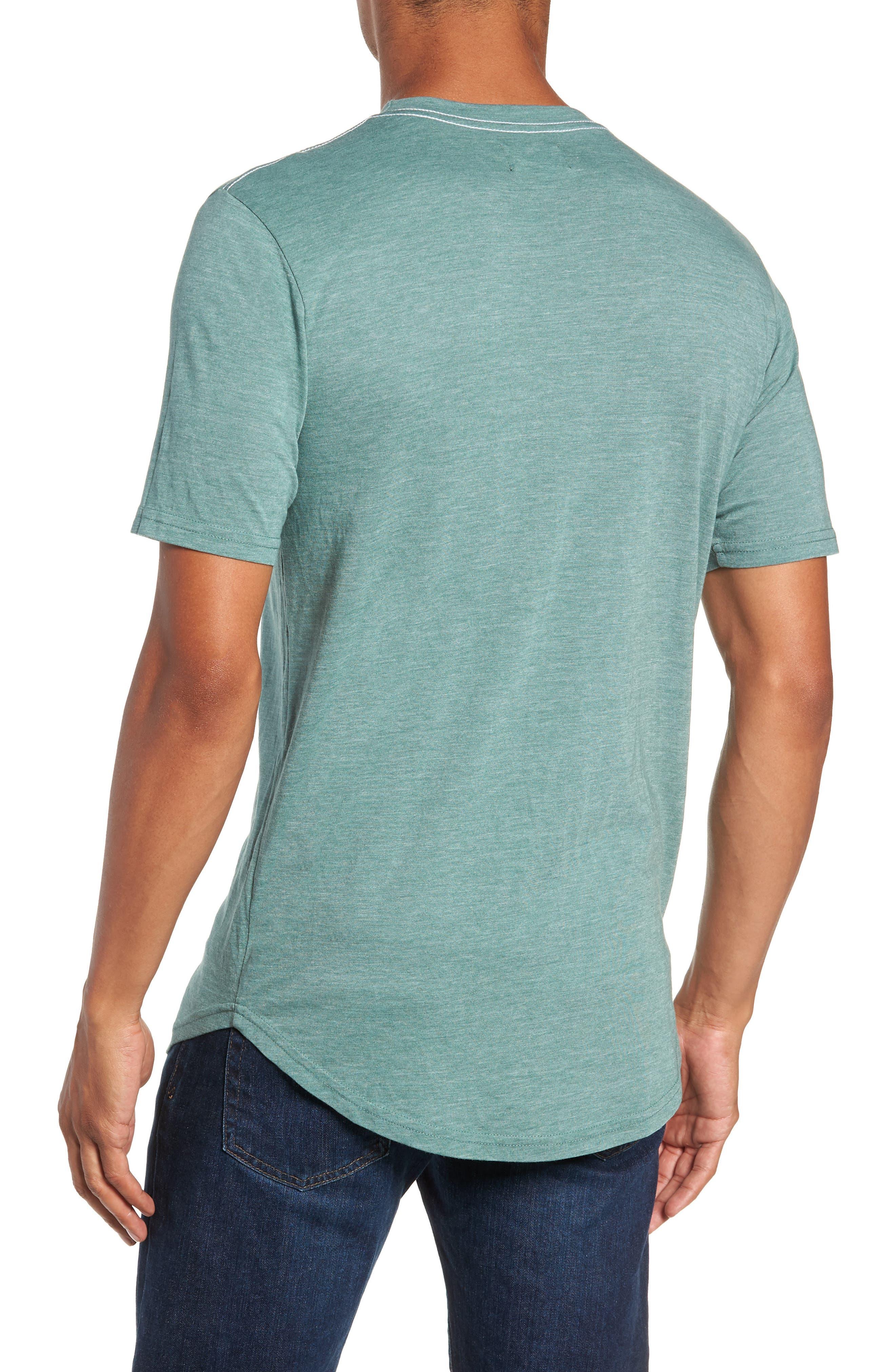 Scallop Triblend Crewneck T-Shirt,                             Alternate thumbnail 2, color,                             PINE