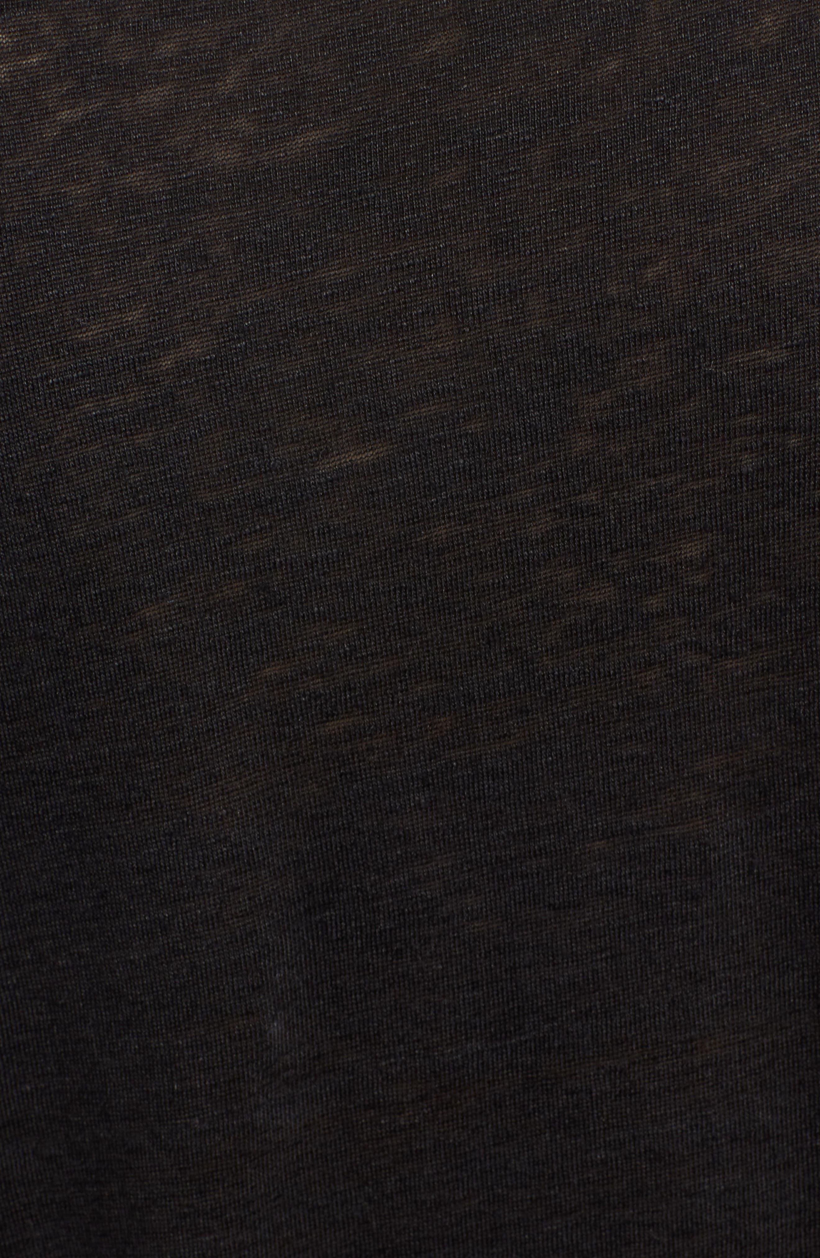 ZADIG & VOLTAIRE,                             Meryl Lin Love Linen Tee,                             Alternate thumbnail 5, color,                             001