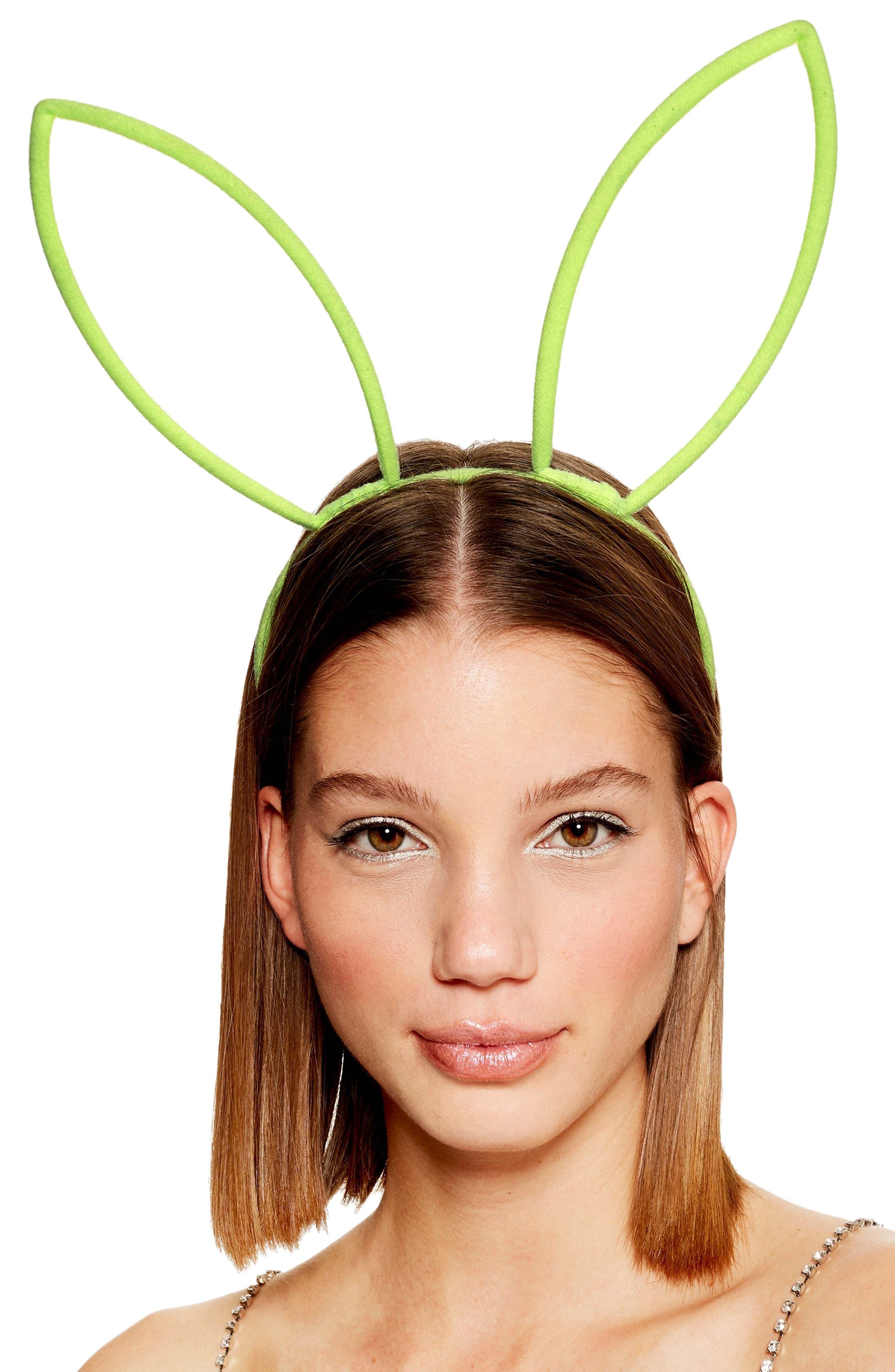 Glow Bunny Ear Headband,                             Alternate thumbnail 2, color,                             GREEN