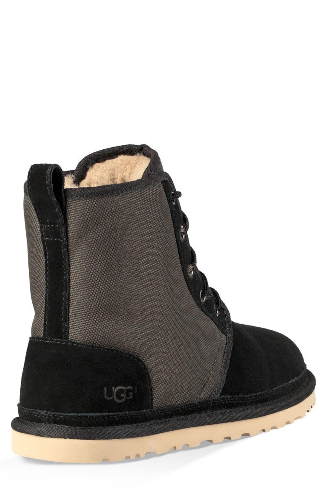 Harkley Lace-Up Boot,                             Alternate thumbnail 2, color,                             BLACK SUEDE