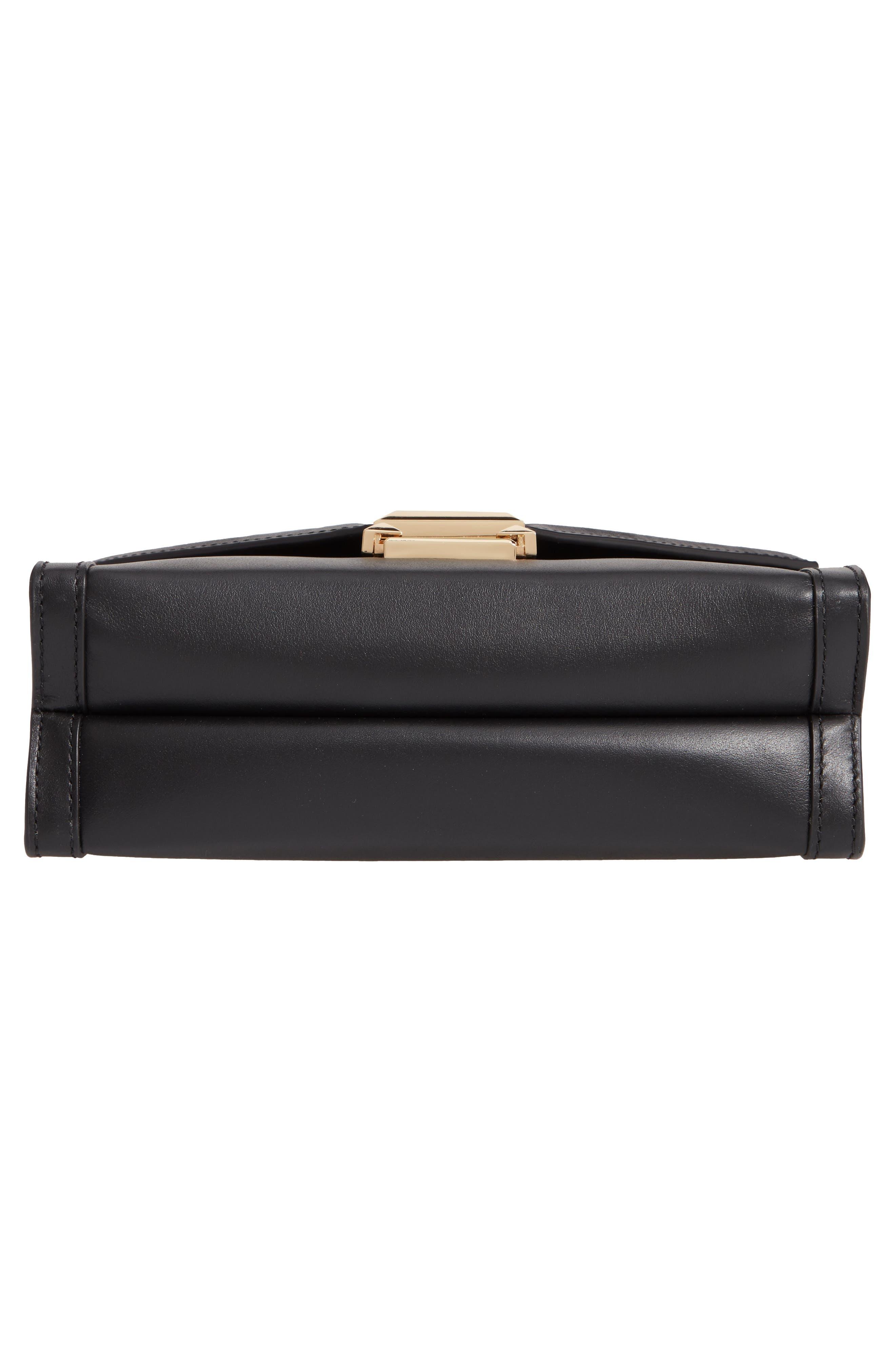 MICHAEL MICHAEL KORS,                             Large Whitney Leather Shoulder Bag,                             Alternate thumbnail 6, color,                             BLACK