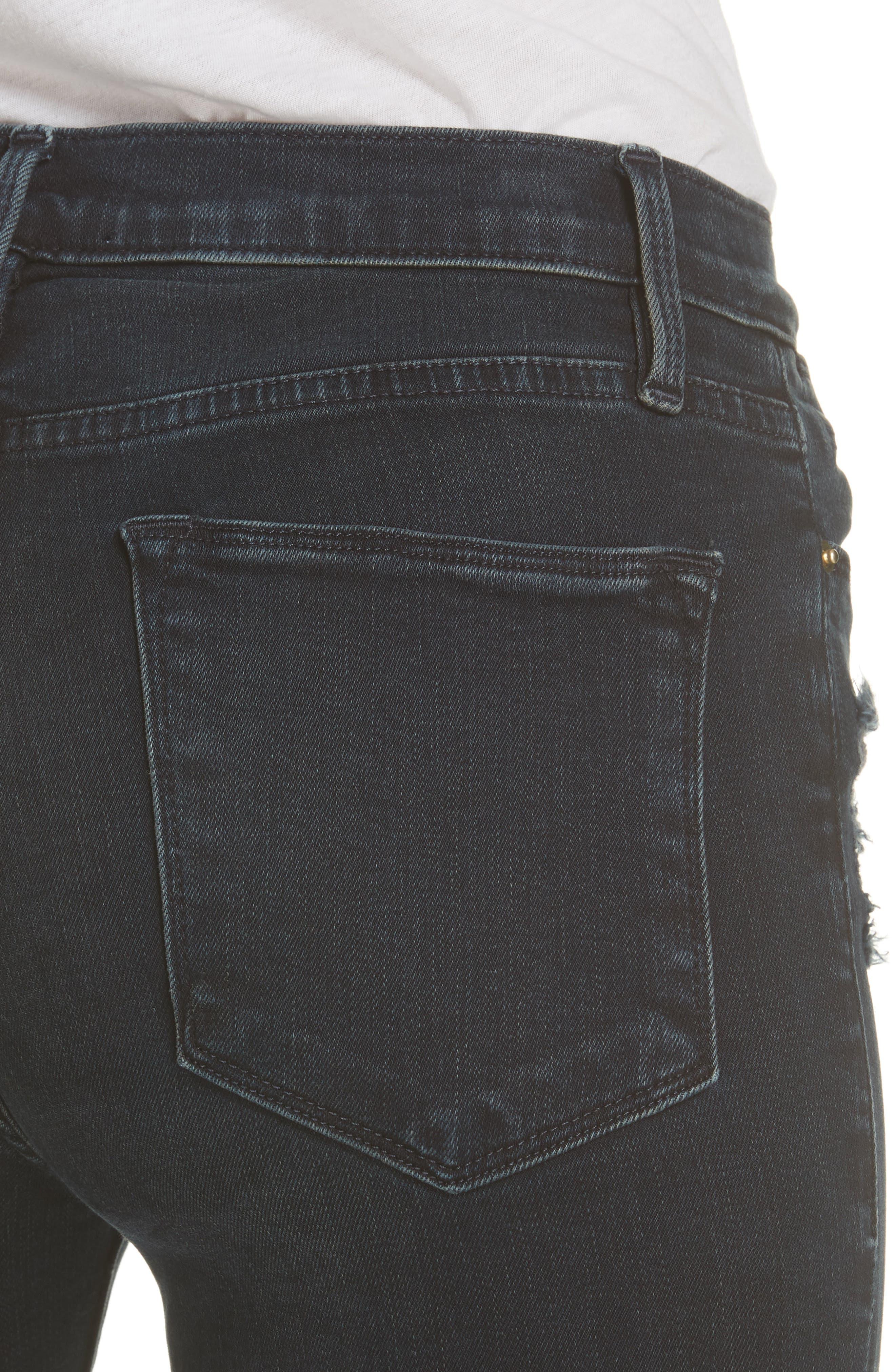 Le High Skinny Jeans,                             Alternate thumbnail 4, color,                             402