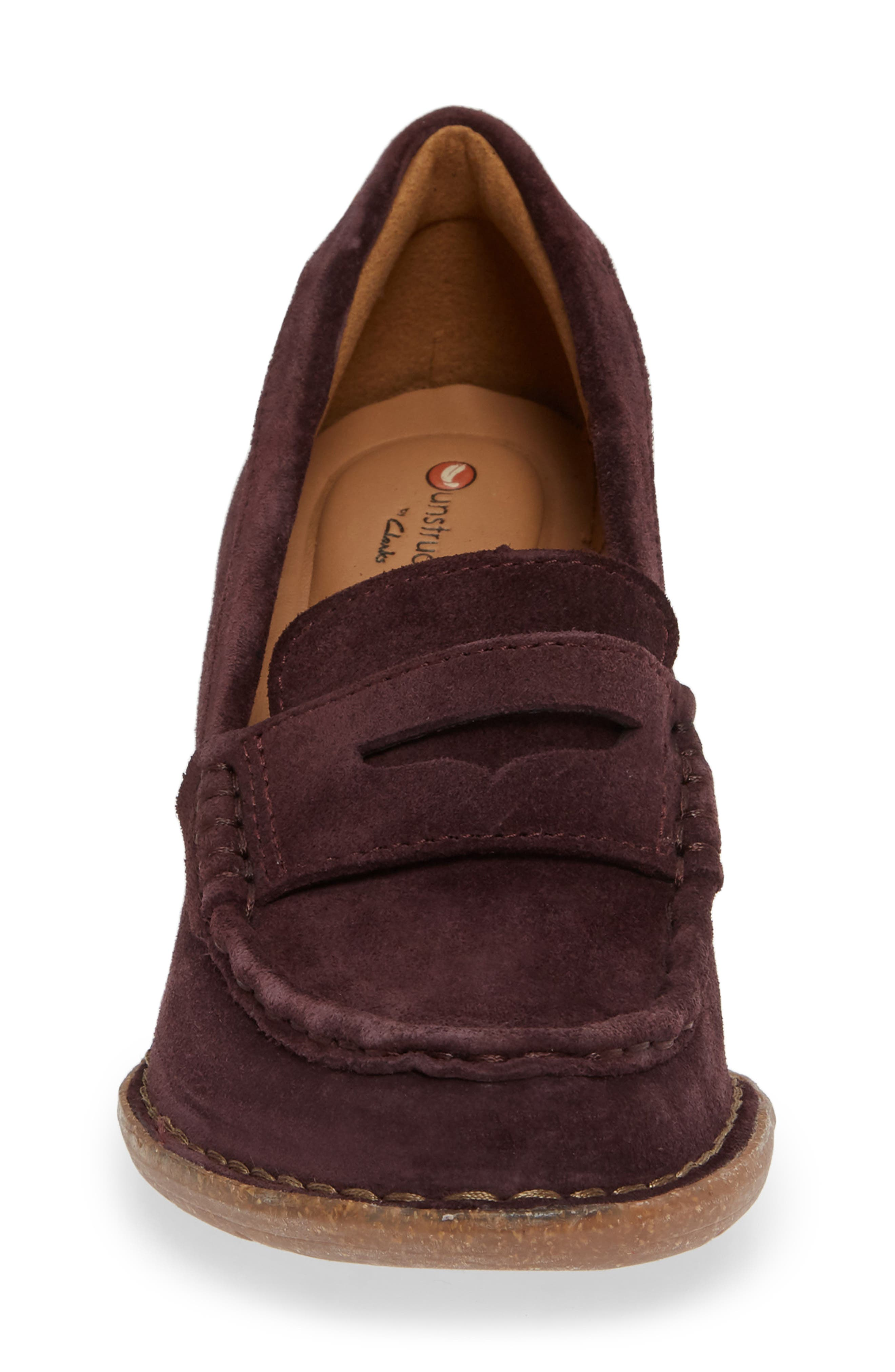 Carletta Belle Pump,                             Alternate thumbnail 4, color,                             BURGUNDY SUEDE