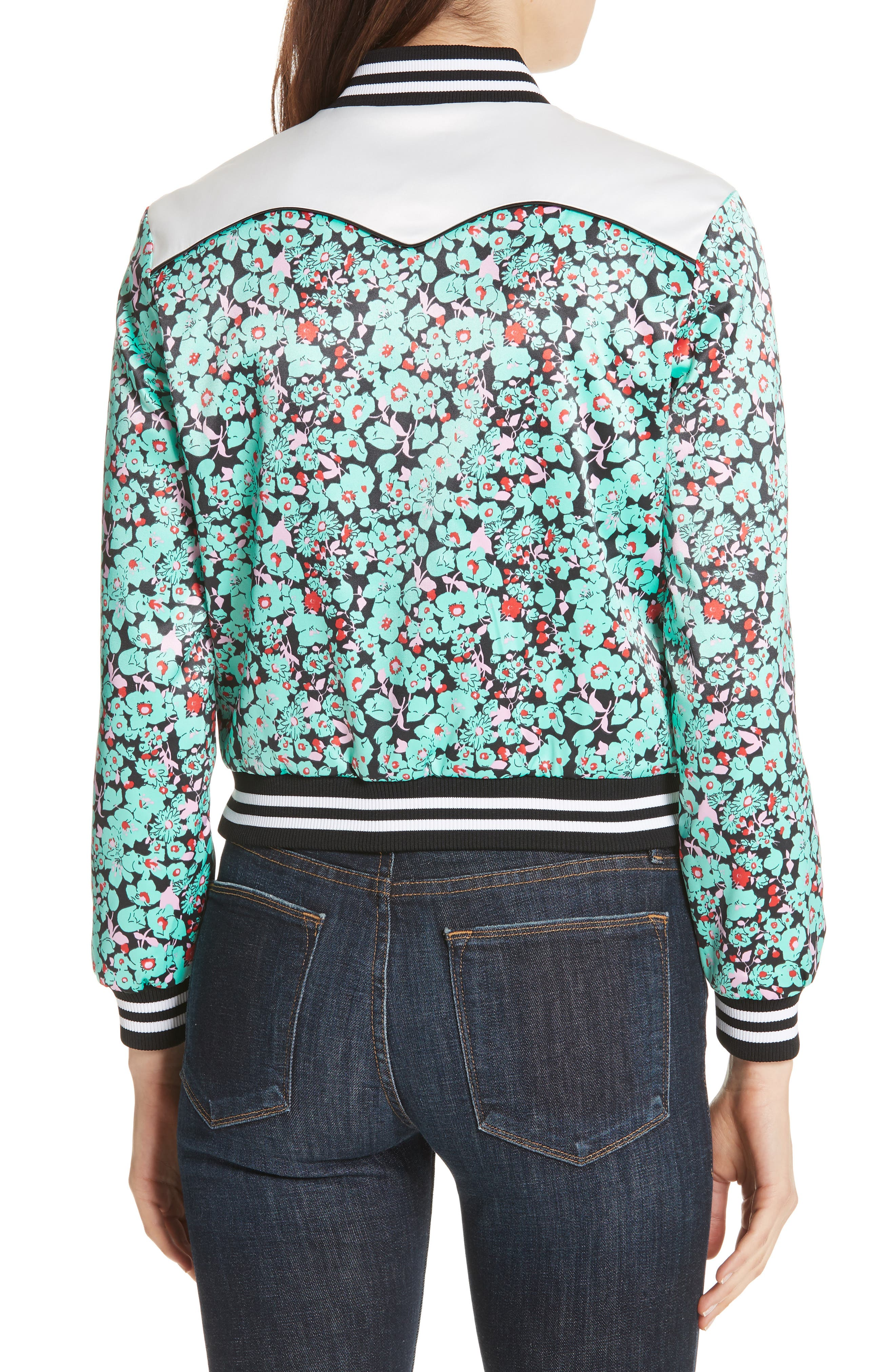 Bert Floral Bomber Jacket,                             Alternate thumbnail 2, color,
