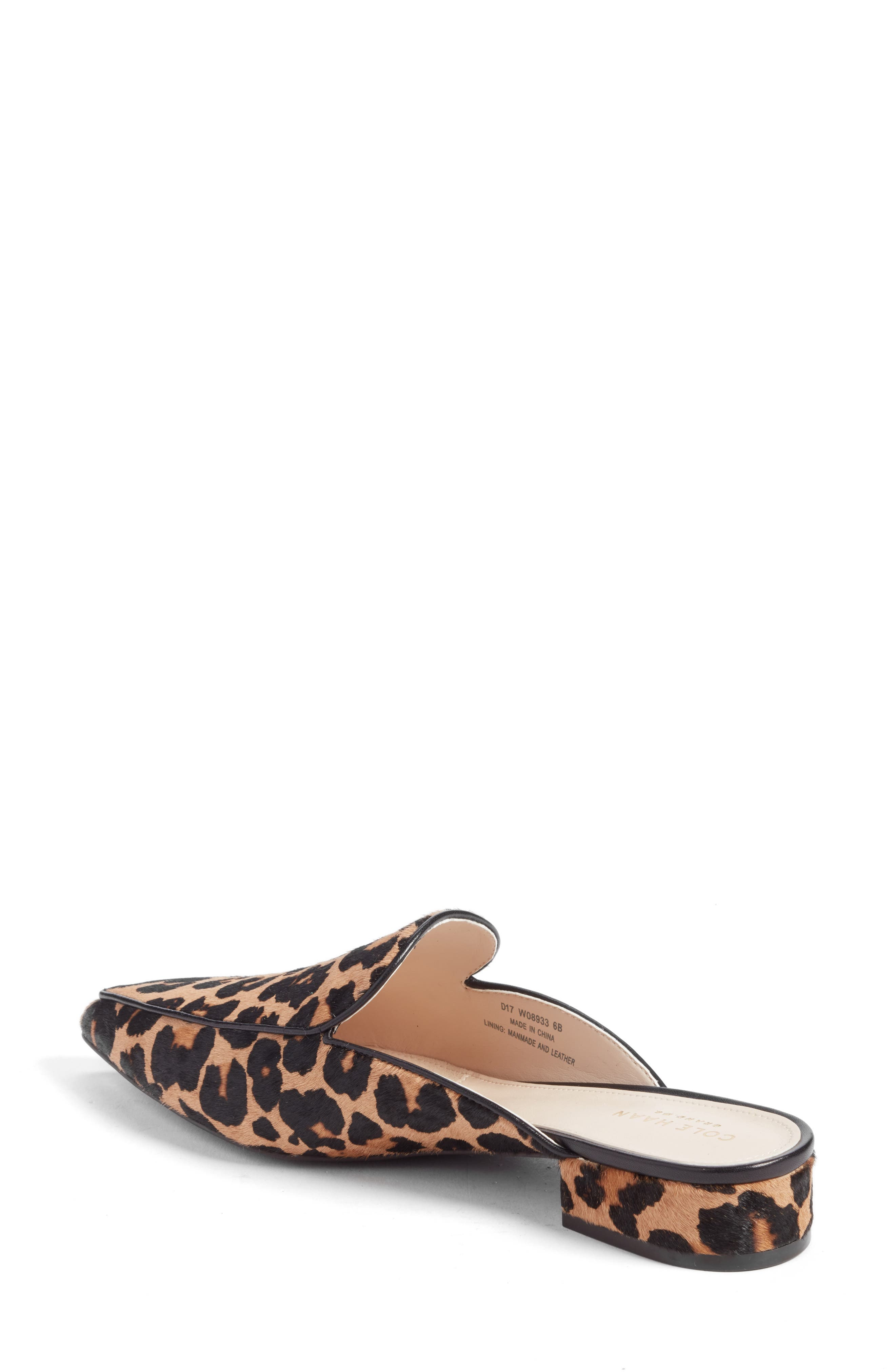 Piper Loafer Mule,                             Alternate thumbnail 2, color,                             OCELOT PRINT CALF HAIR