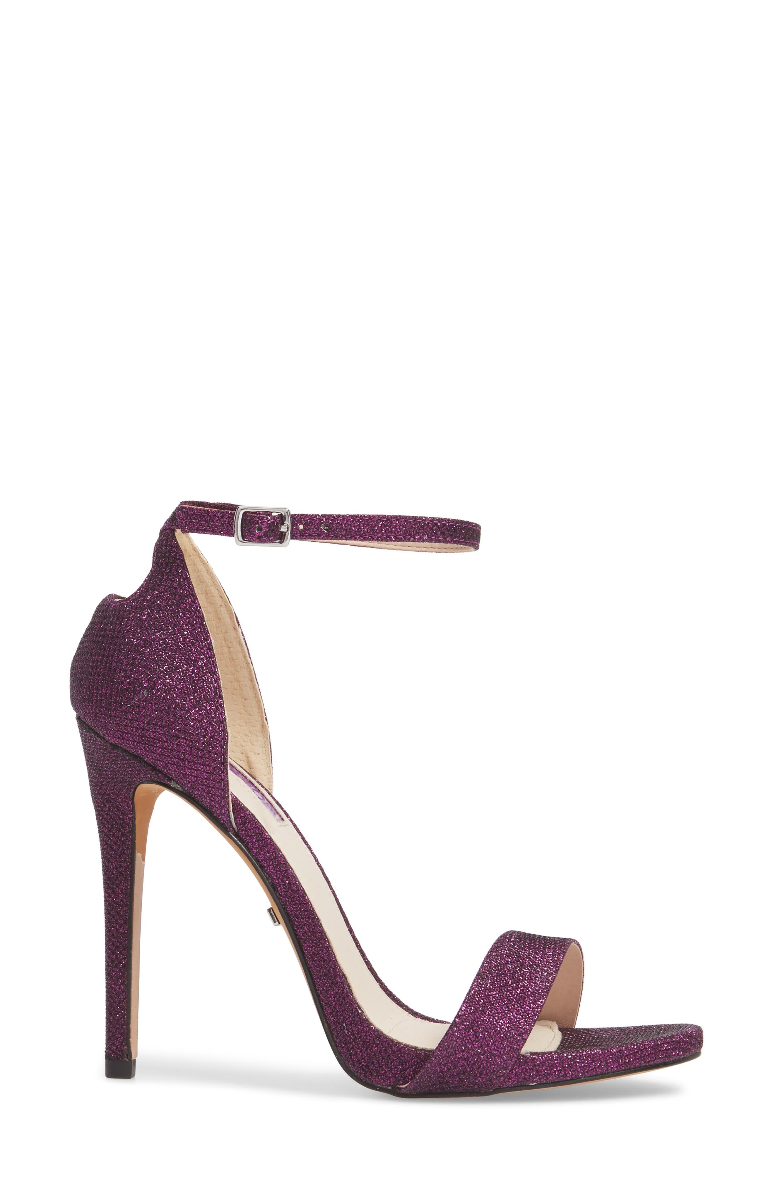 Raphie Ankle Strap Sandal,                             Alternate thumbnail 3, color,                             PURPLE