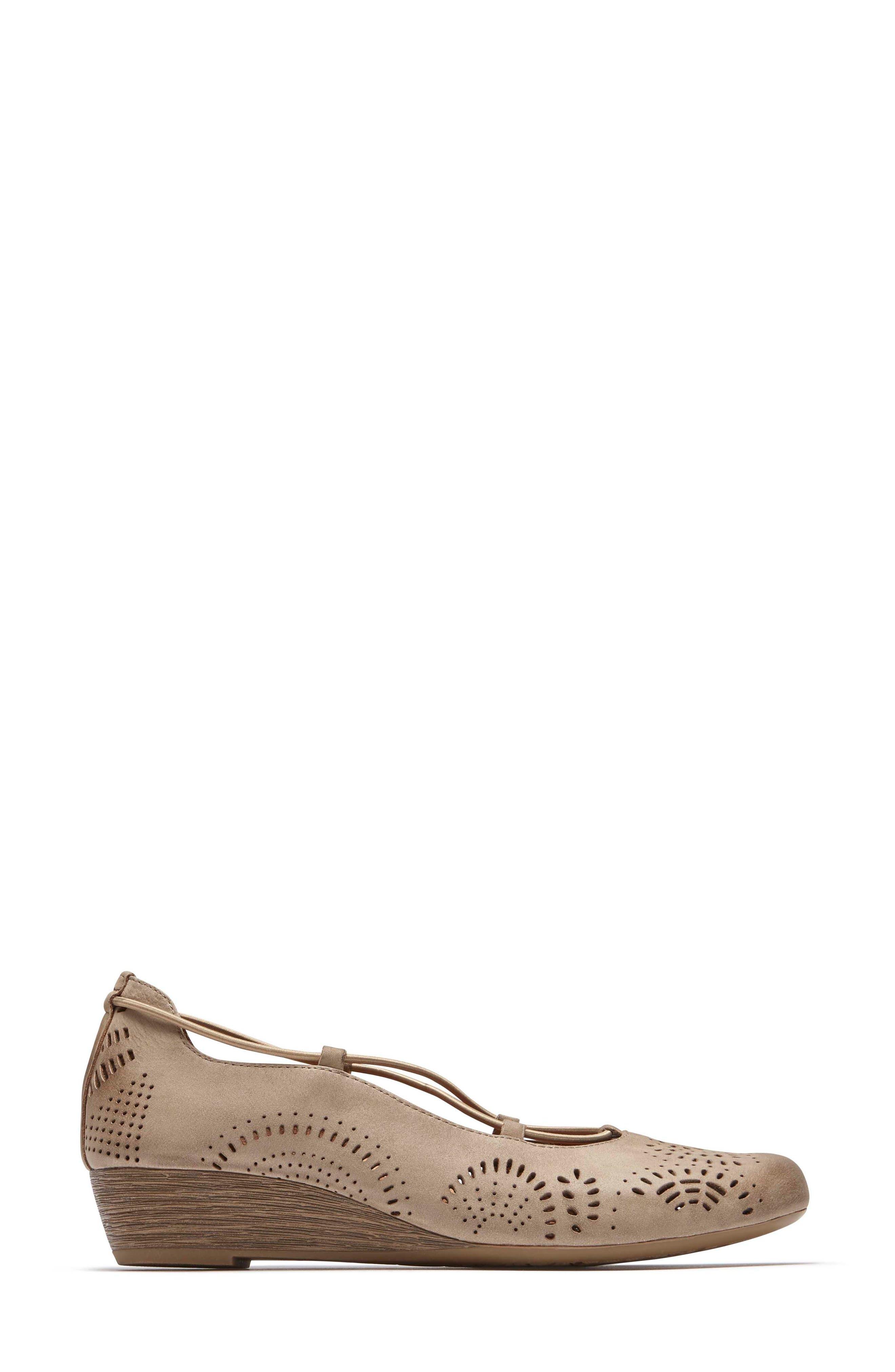 Janna Cross Strap Wedge Sandal,                             Alternate thumbnail 14, color,