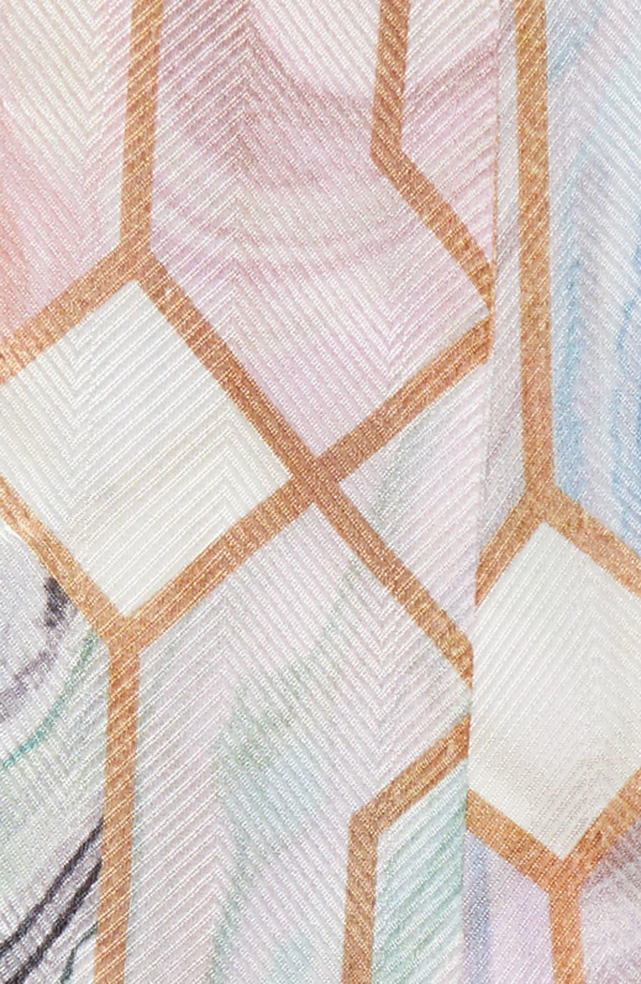 Acaulis - Sea Of Clouds Mini Silk Scarf,                             Alternate thumbnail 4, color,                             100