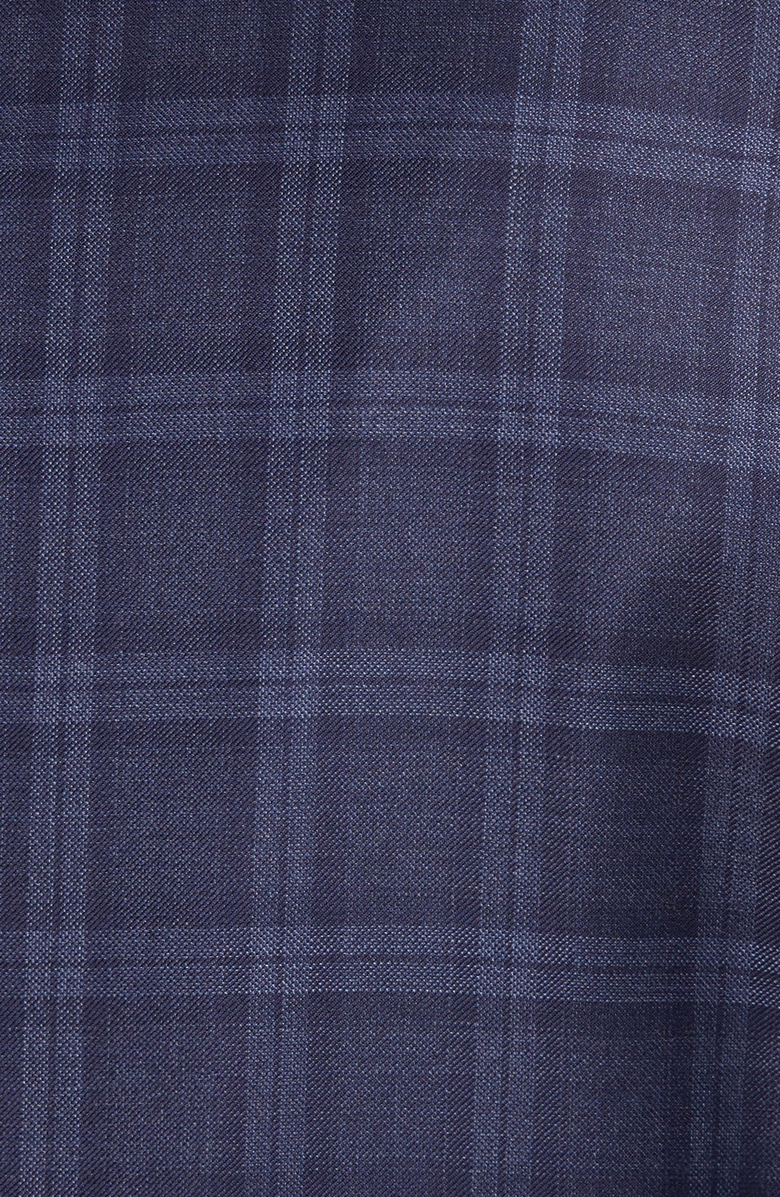 Classic Fit Windowpane Wool Sport Coat,                             Alternate thumbnail 6, color,