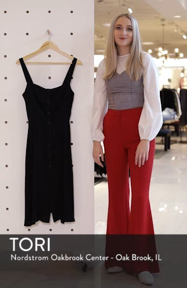 Persimmon Floral Midi A-Line Dress, sales video thumbnail