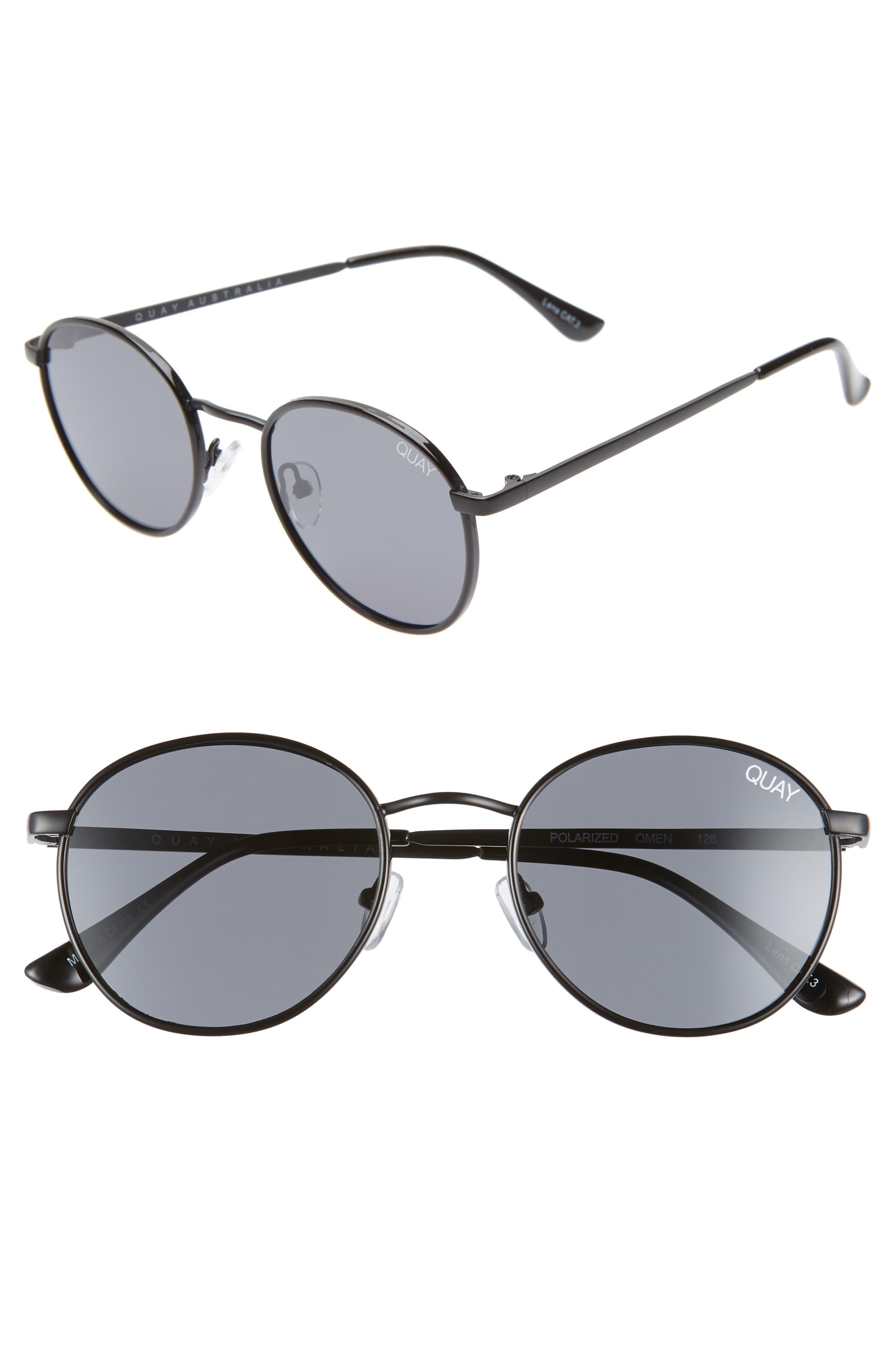 Quay Australia Omen 4m Sunglasses - Black/ Smoke