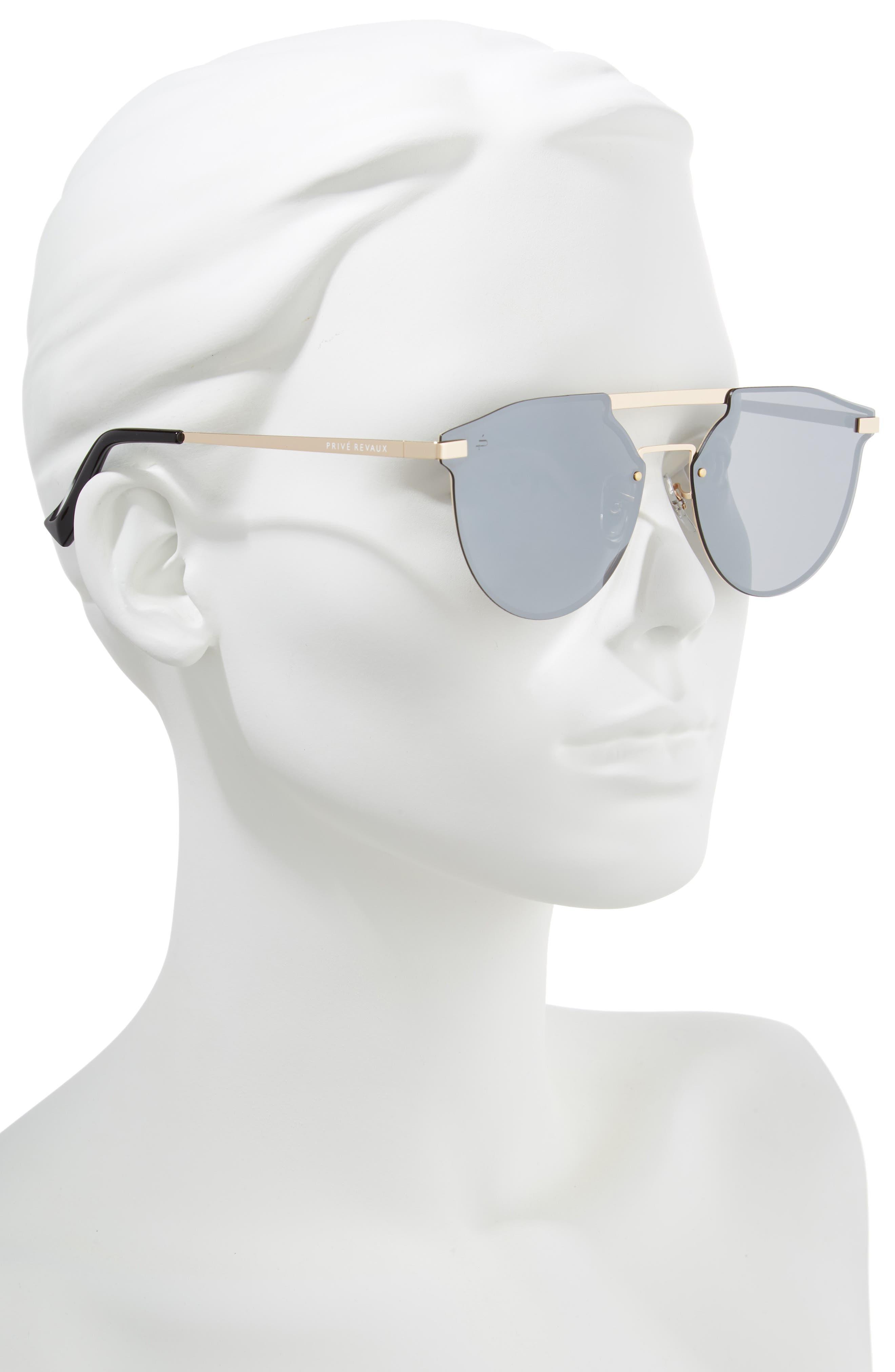 Privé Revaux The Parisian 62mm Aviator Sunglasses,                             Alternate thumbnail 2, color,                             040