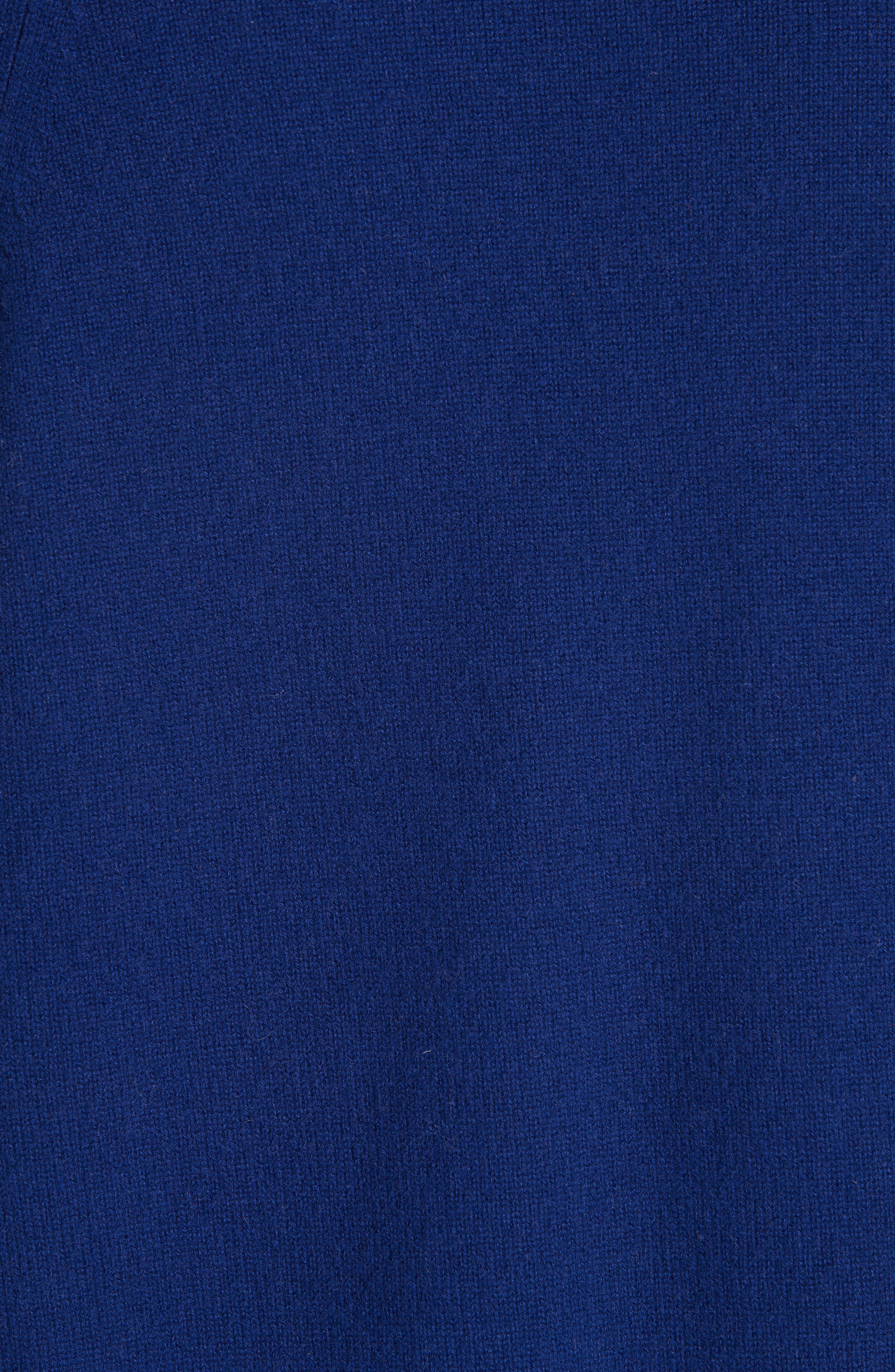 Deep V-Neck Cashmere Sweater,                             Alternate thumbnail 5, color,                             INK