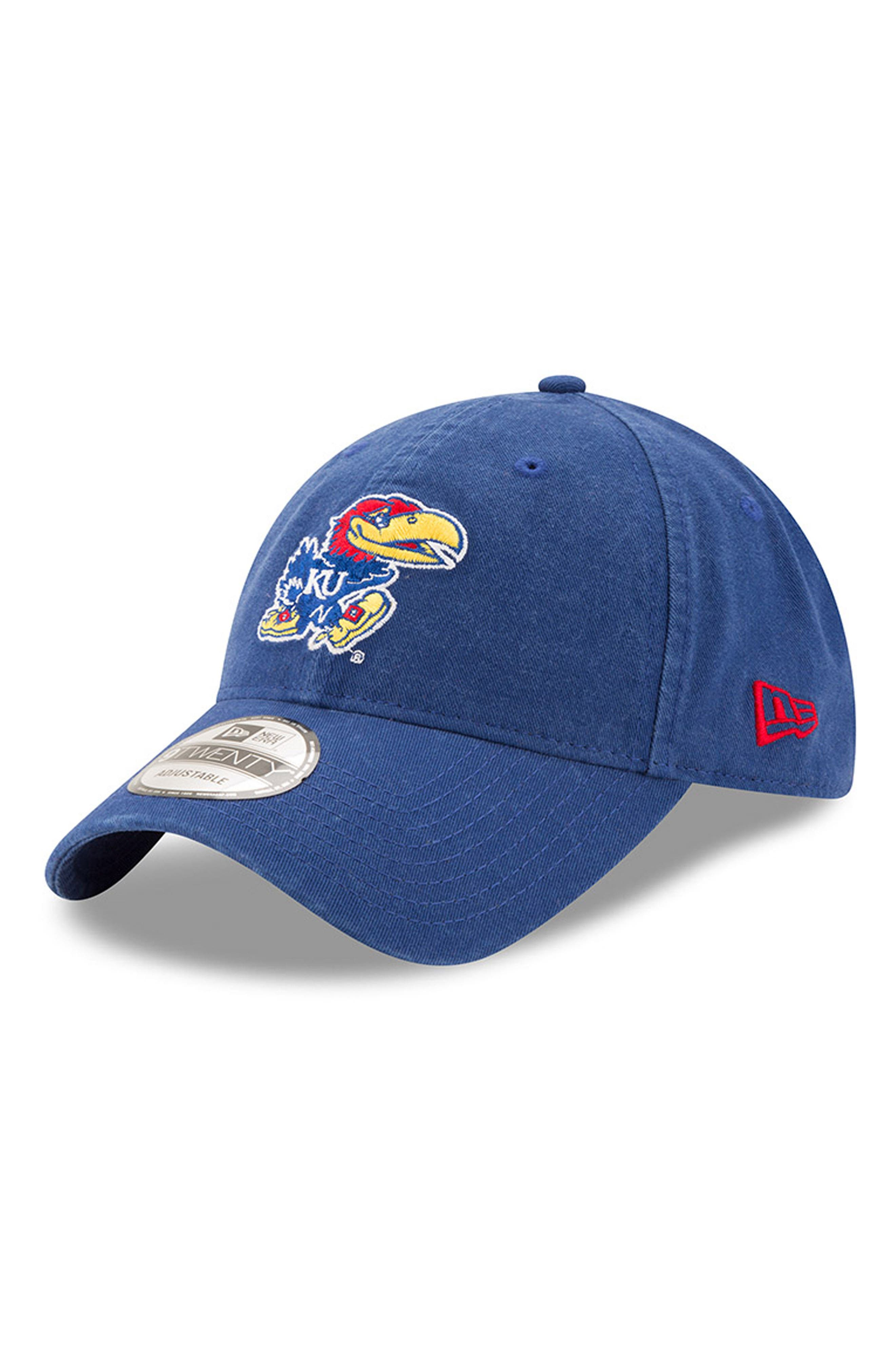 New Era Collegiate Core Classic - Kansas Jayhawks Baseball Cap,                         Main,                         color, 400