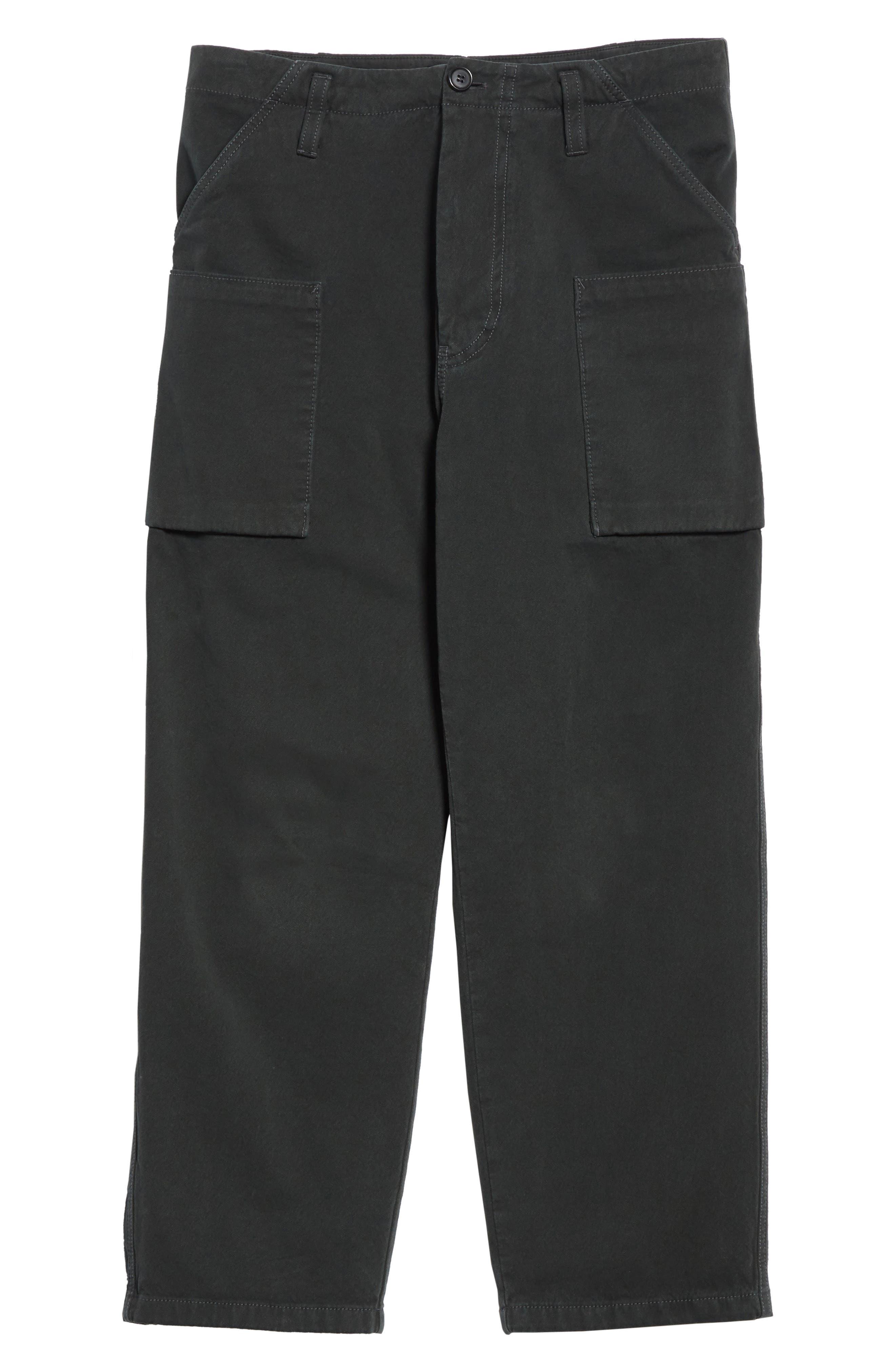 Anselm Wide Leg Patch Cargo Pants,                             Alternate thumbnail 6, color,                             010