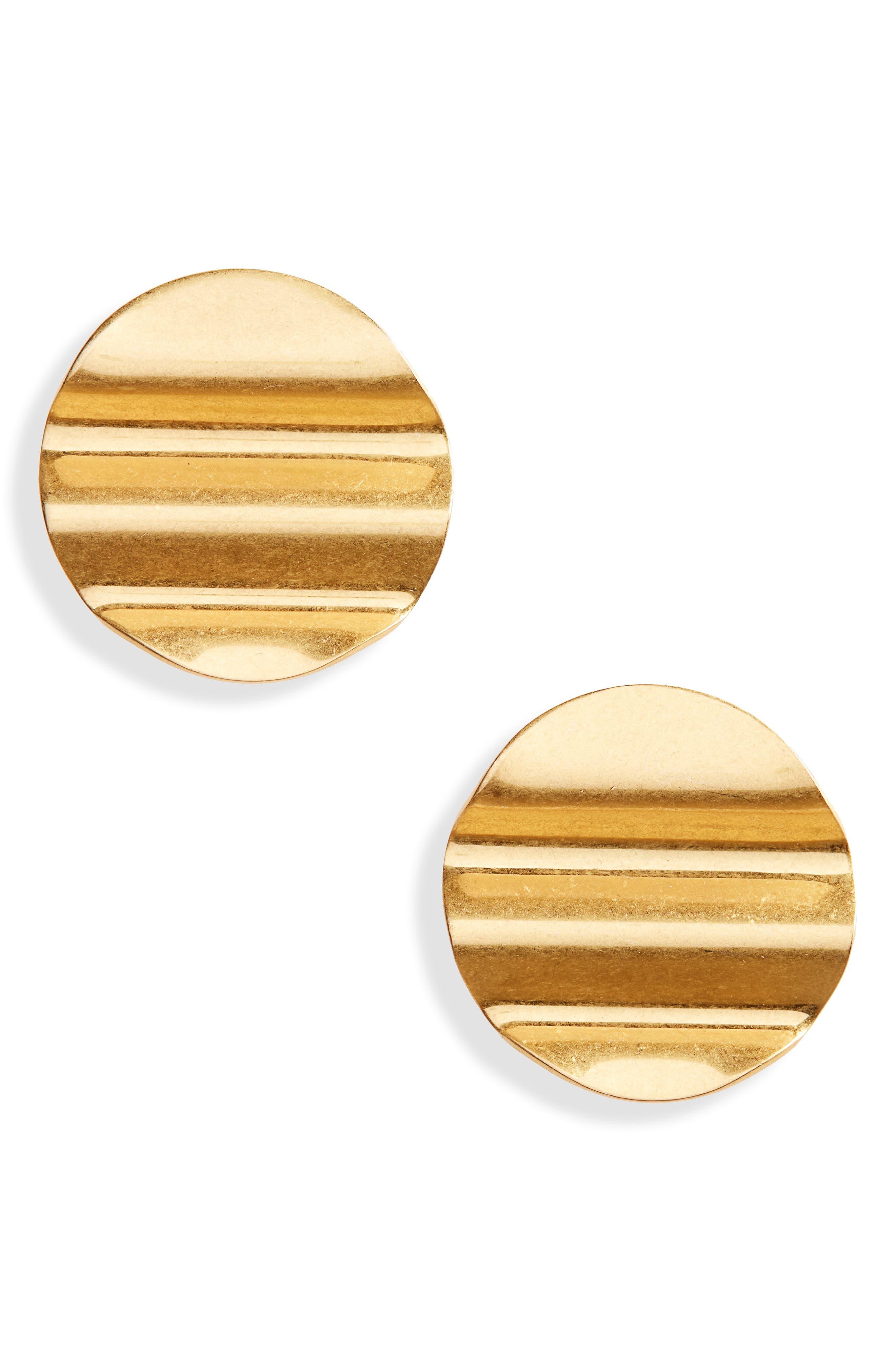 Waves Disc Earrings,                             Main thumbnail 1, color,                             710