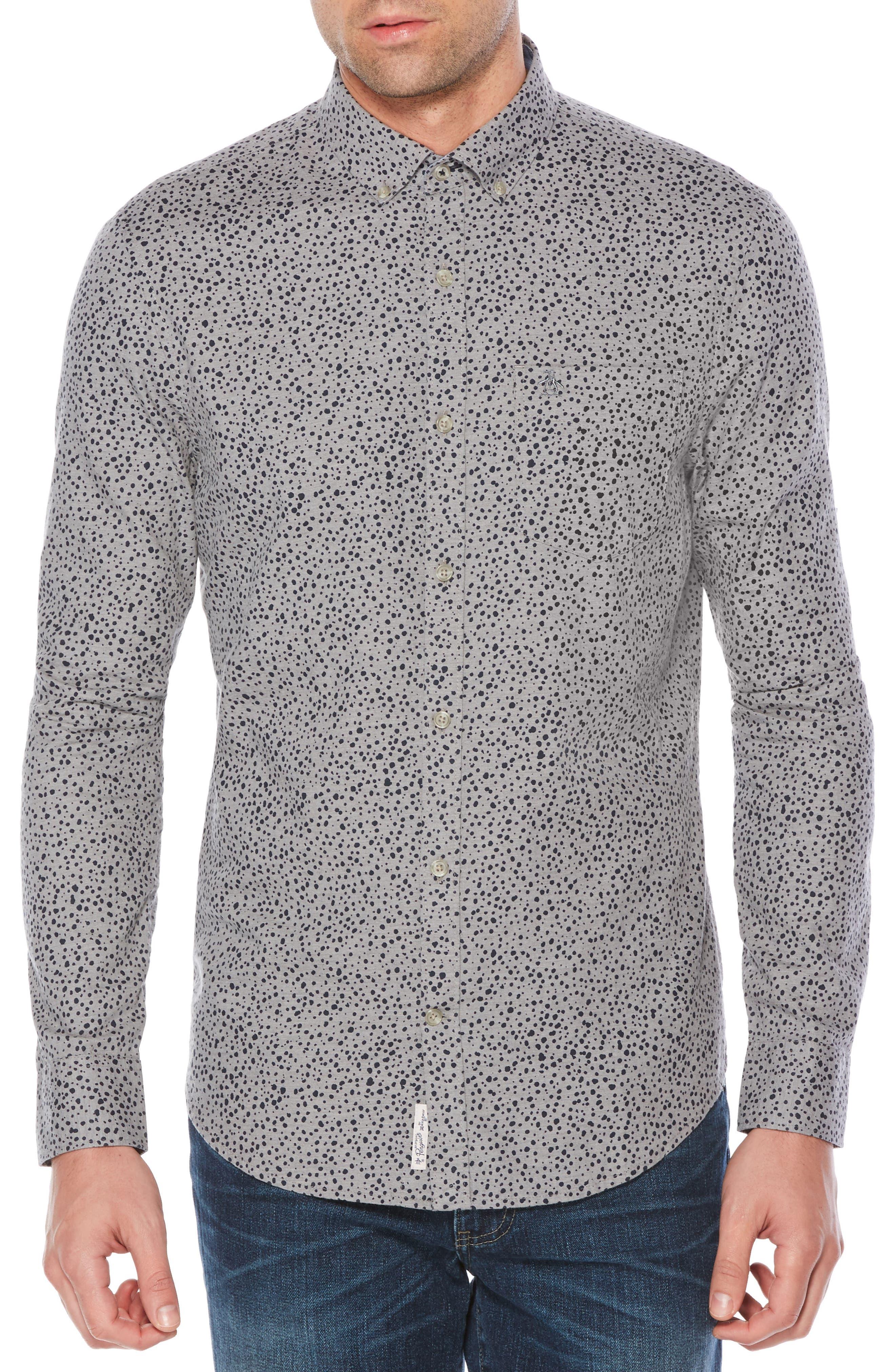 Drop Print Shirt,                         Main,                         color, 080
