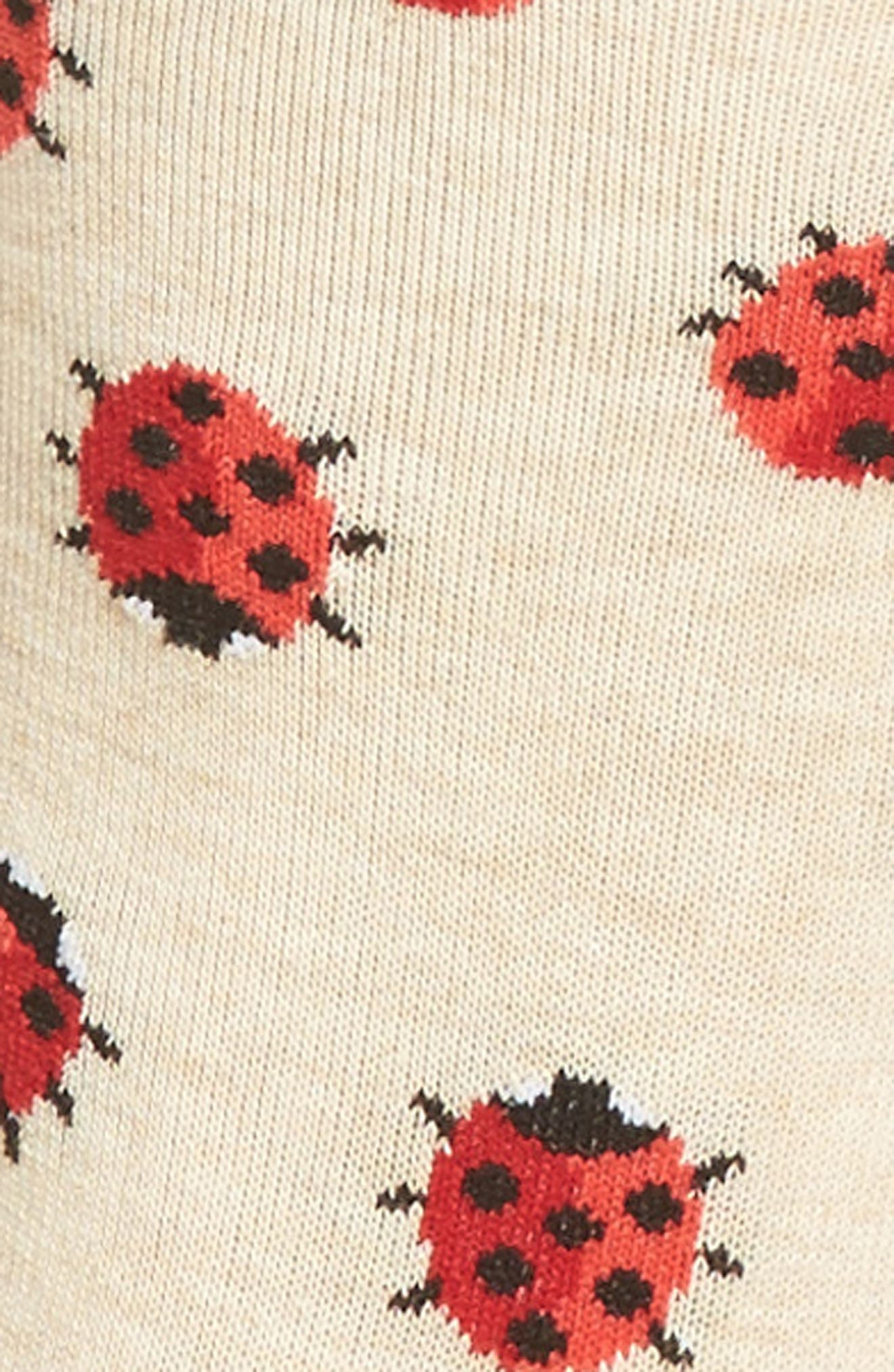 Ladybug Crew Socks,                             Alternate thumbnail 3, color,                             257