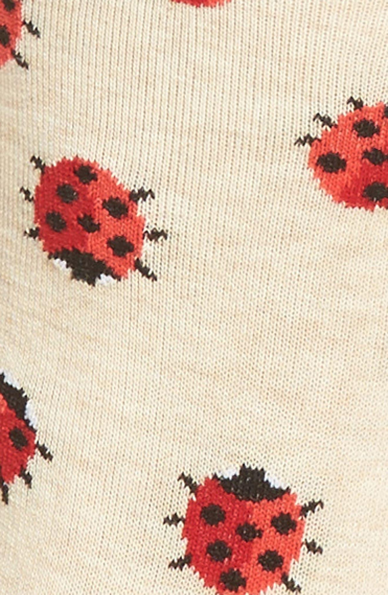 Ladybug Crew Socks,                             Alternate thumbnail 5, color,