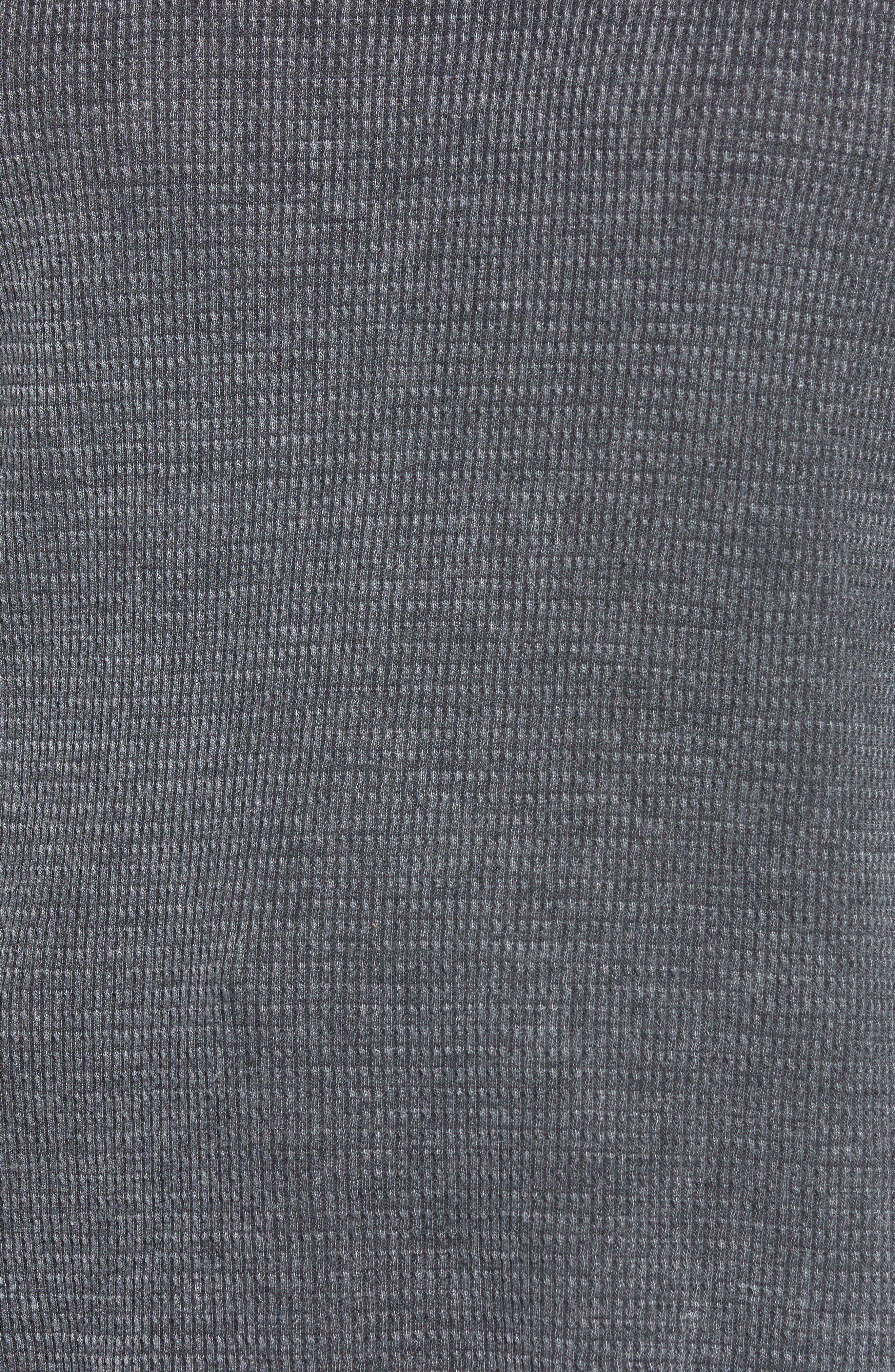 PROJECT SOCIAL T,                             Solomon Waffle Knit Tee,                             Alternate thumbnail 5, color,                             001