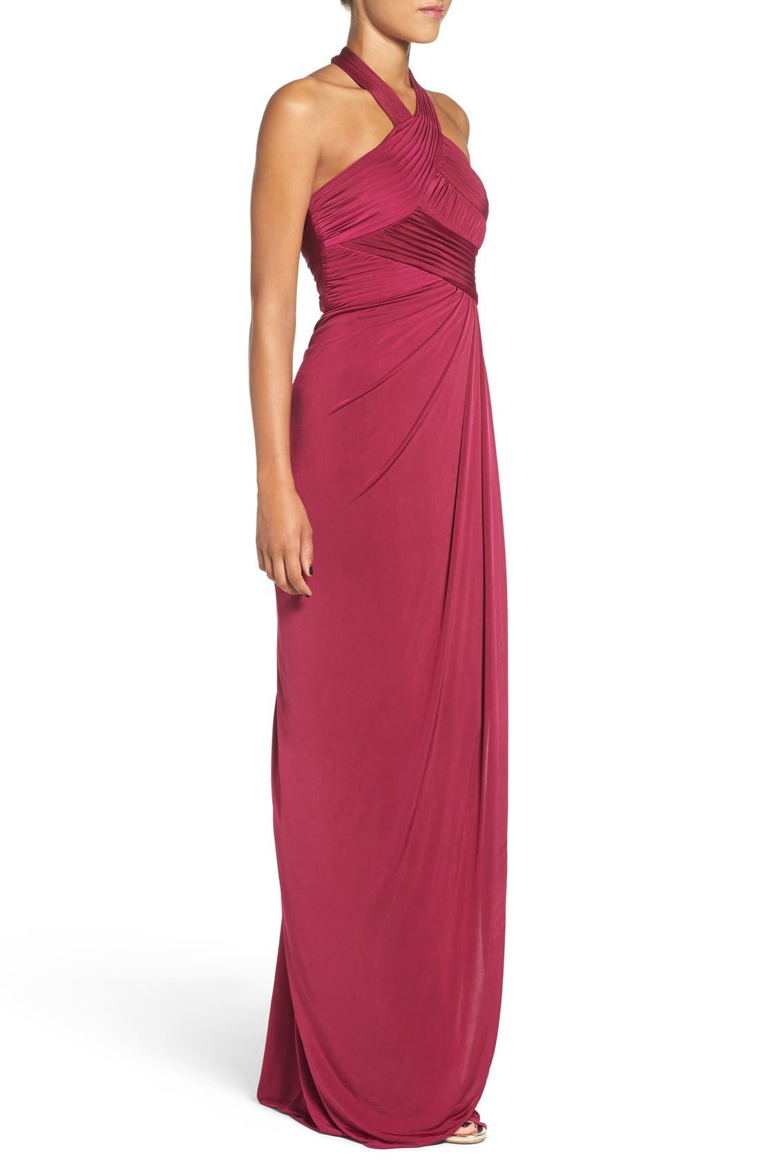 Jersey Halter Dress,                             Alternate thumbnail 3, color,                             935