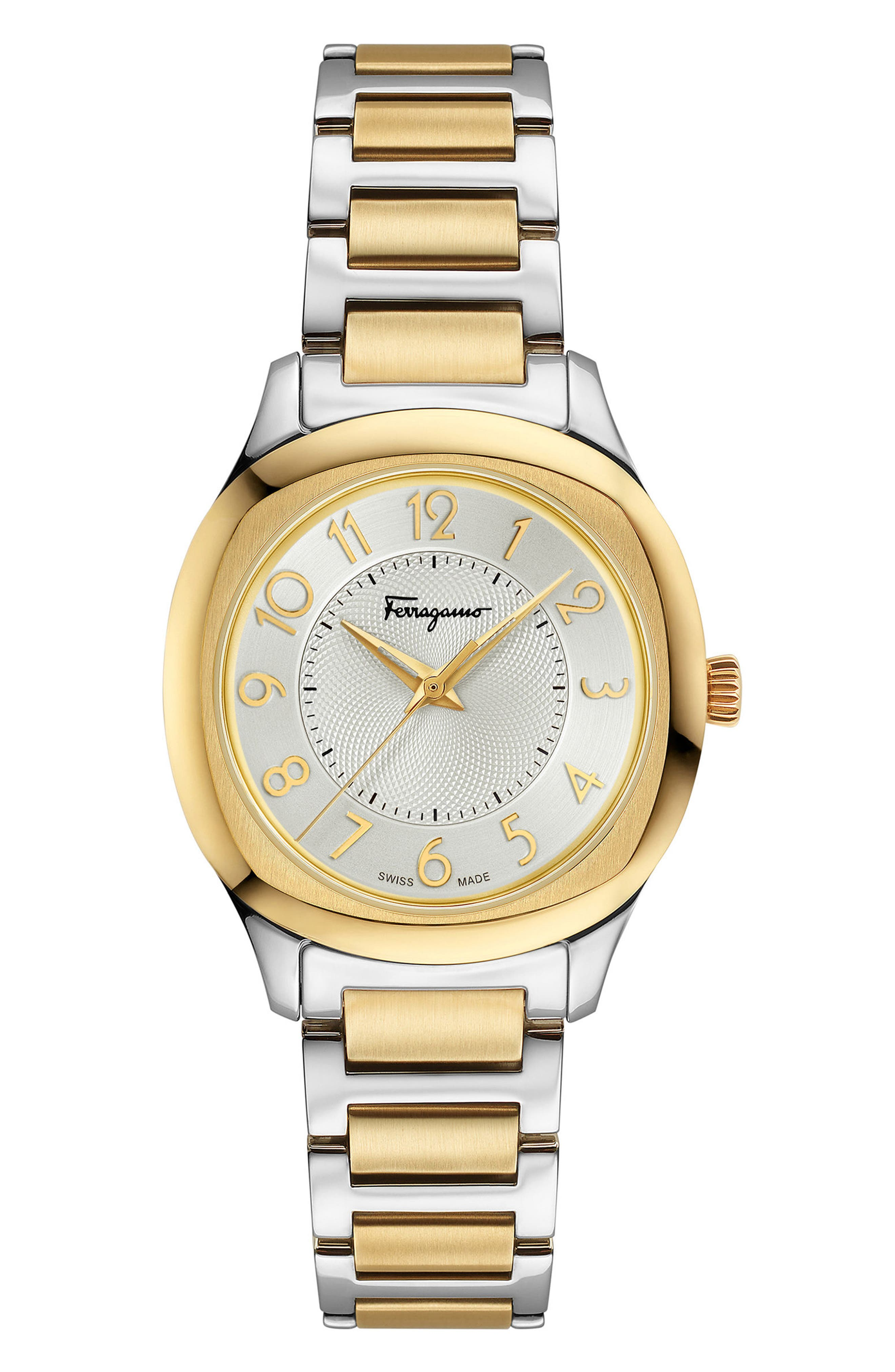 Feroni Bracelet Watch, 36mm,                             Main thumbnail 1, color,                             SILVER/ GOLD