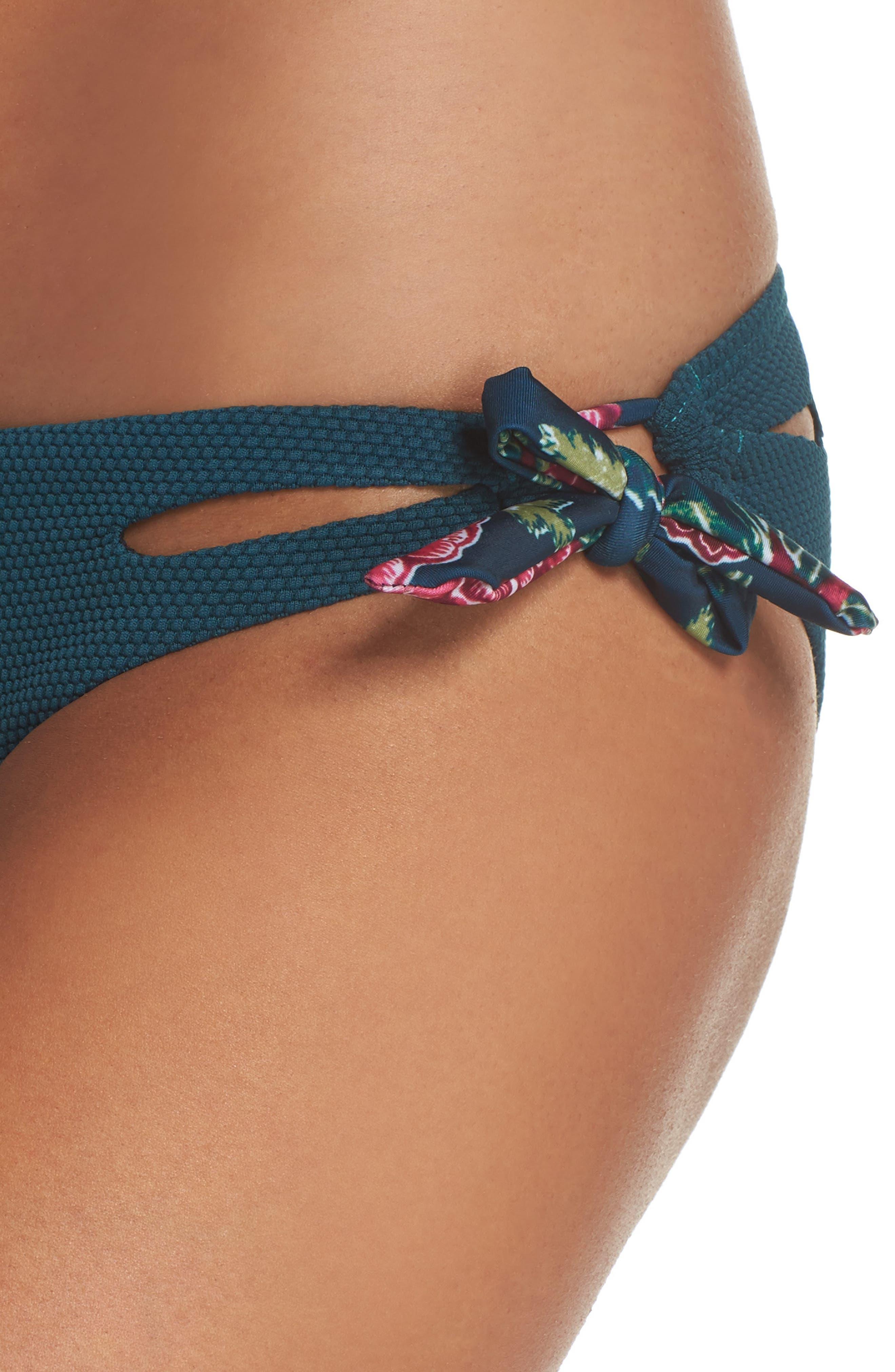 Side Tie Bikini Bottoms,                             Alternate thumbnail 4, color,                             448