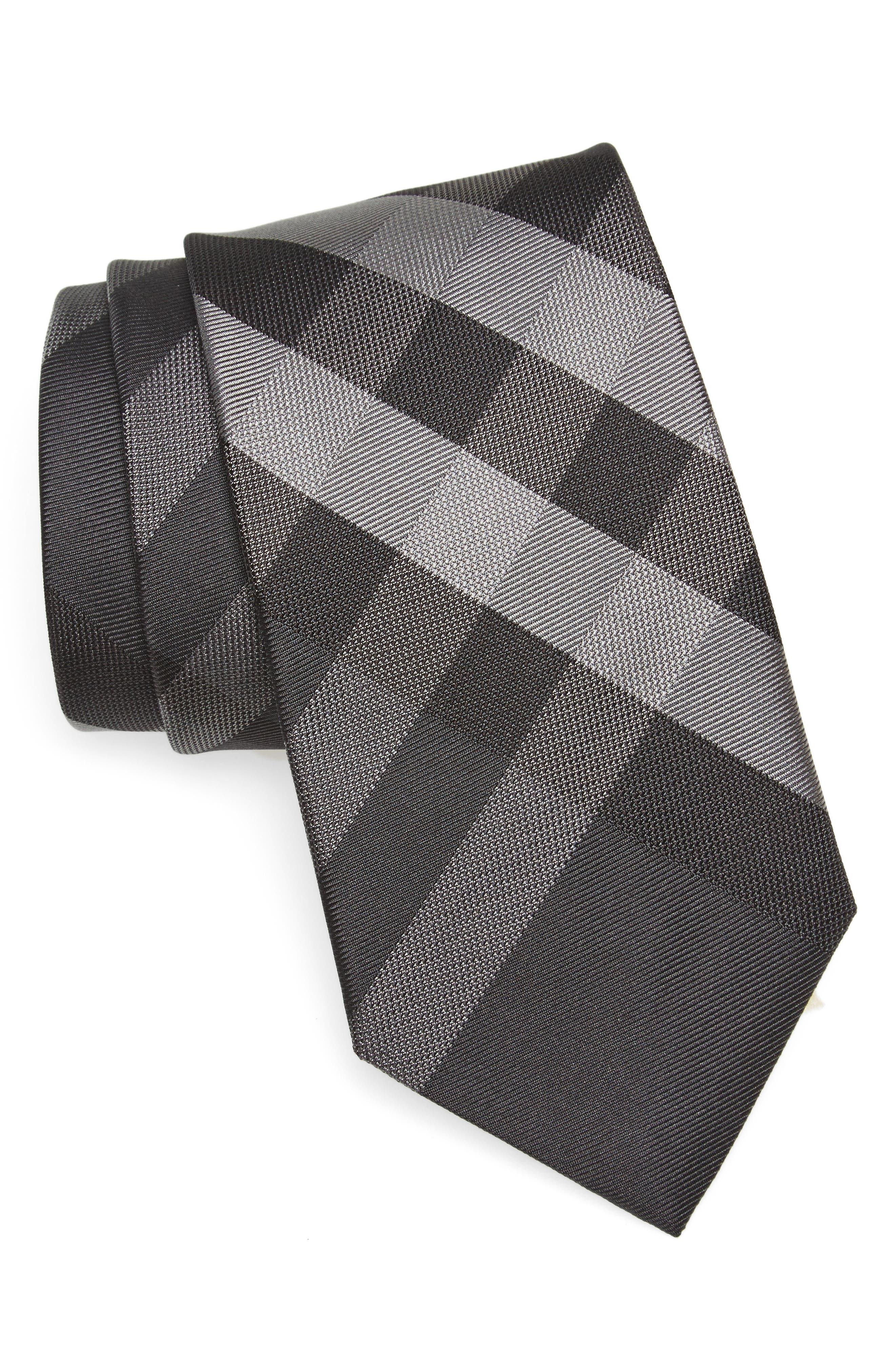 Clinton Check Silk Tie,                         Main,                         color, 022