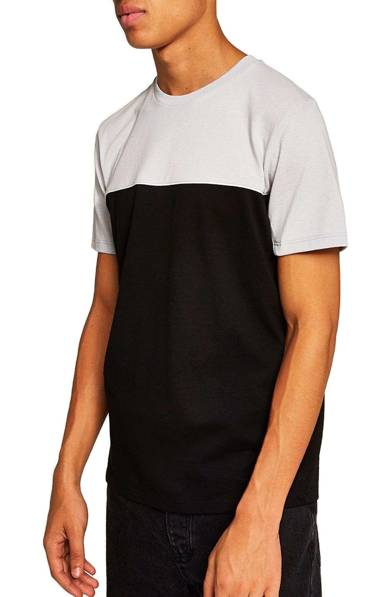 Colorblock T-Shirt,                             Main thumbnail 1, color,                             BLACK MULTI