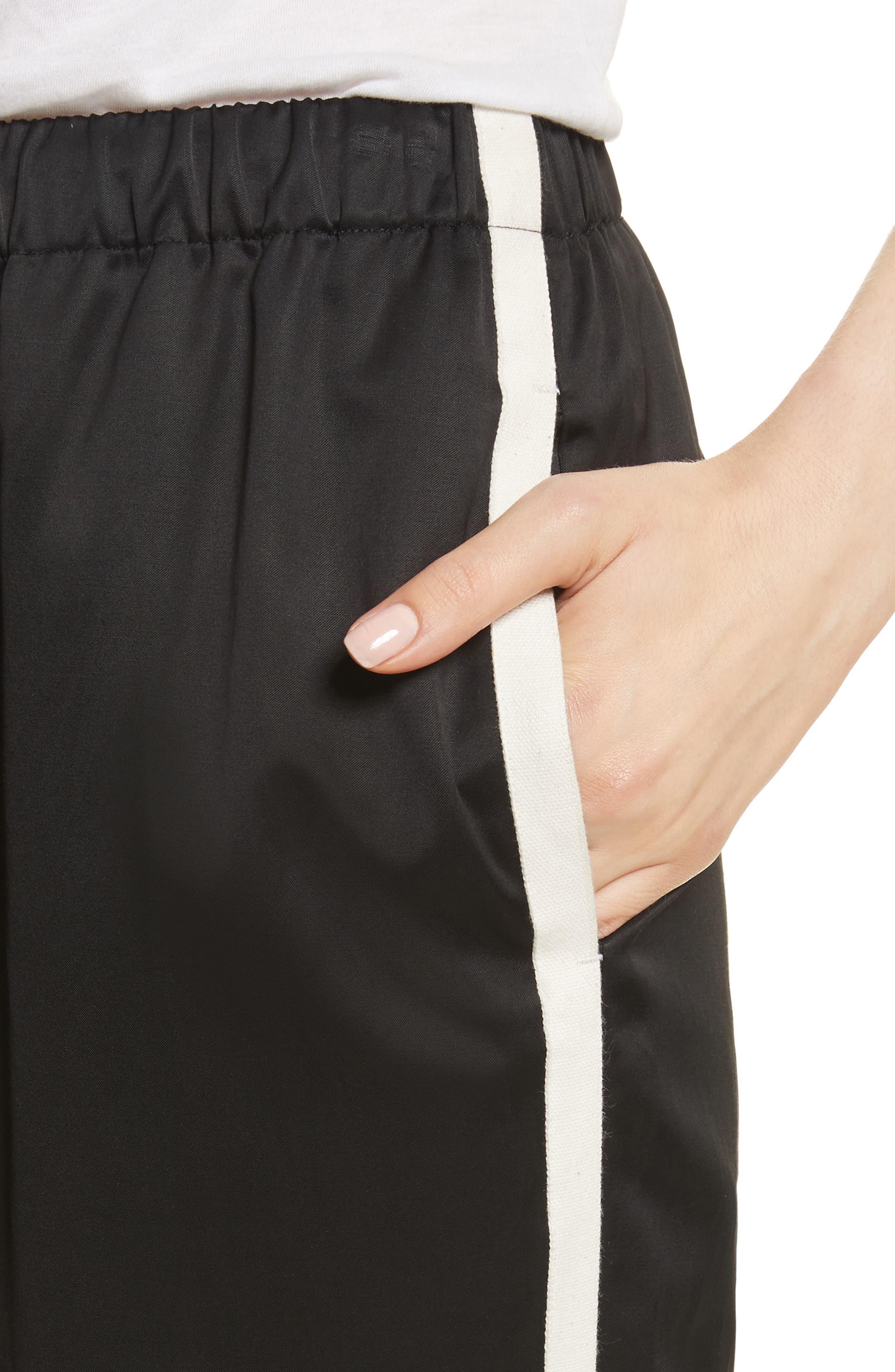 Satin Track Pants,                             Alternate thumbnail 4, color,                             001