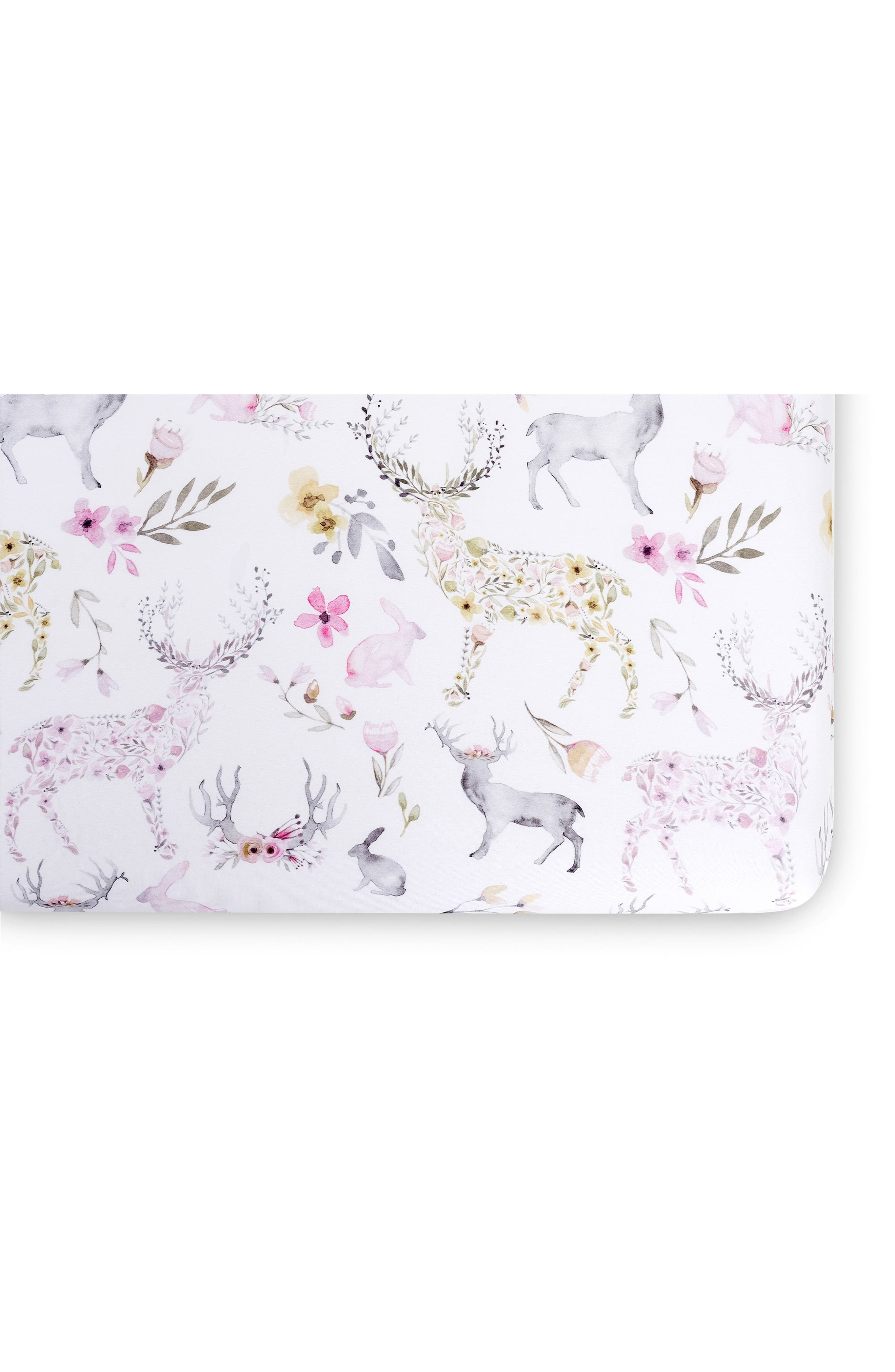 Fitted Crib Sheet,                         Main,                         color, BLUSH FAWN