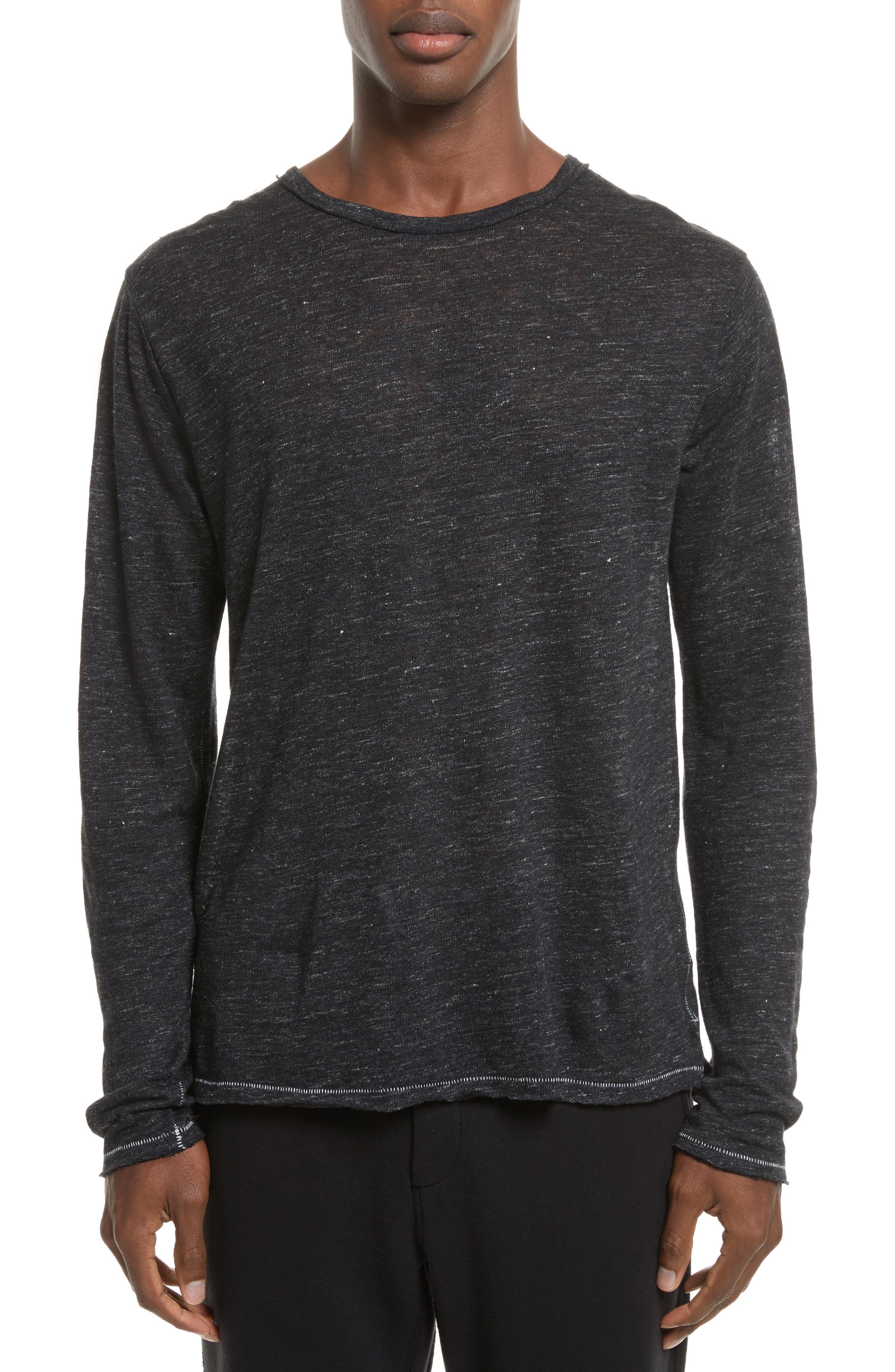 Owen Linen Long Sleeve T-Shirt,                             Main thumbnail 2, color,