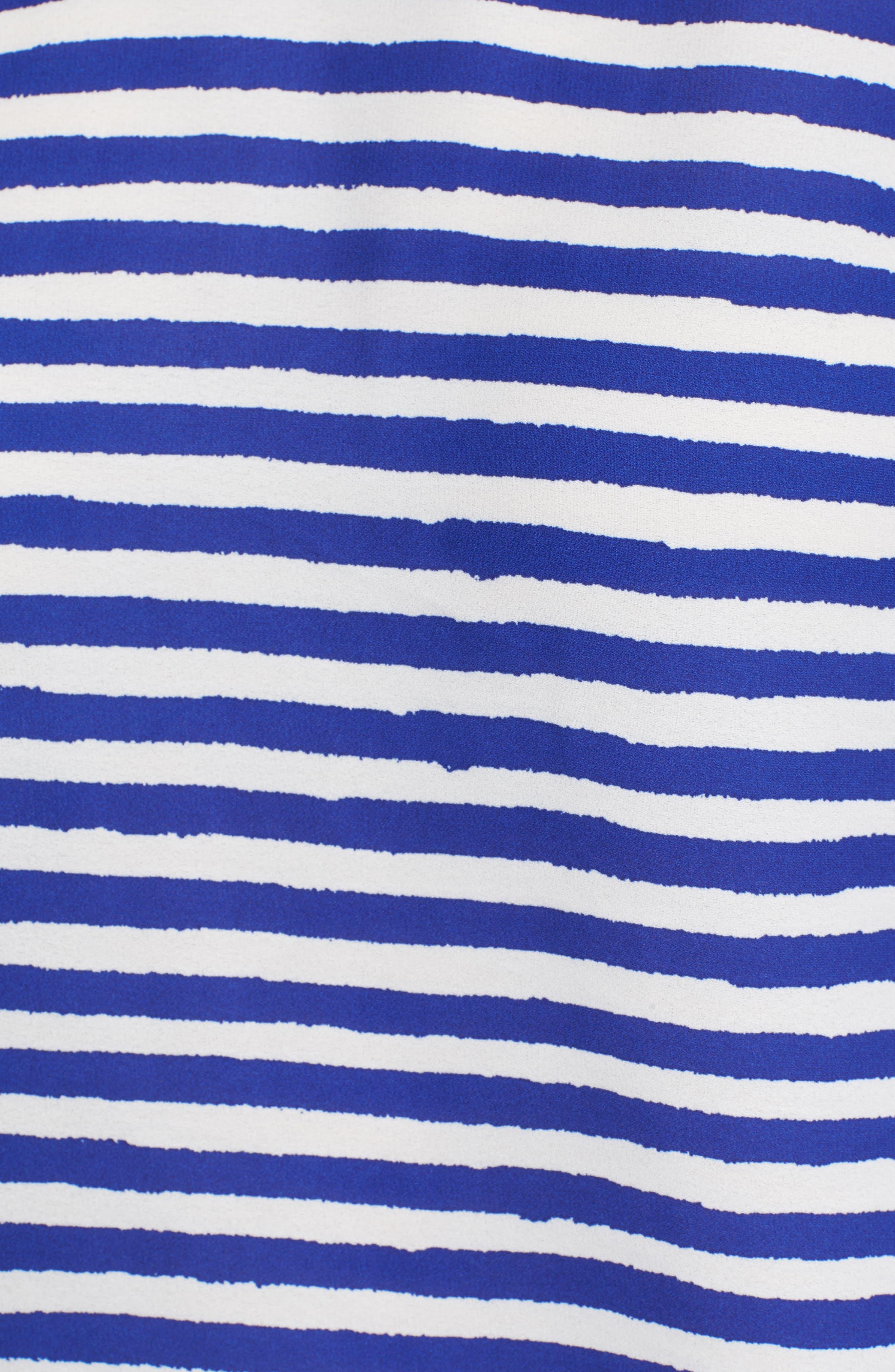 Tulip Sleeve Stripe Blouse,                             Alternate thumbnail 5, color,                             400