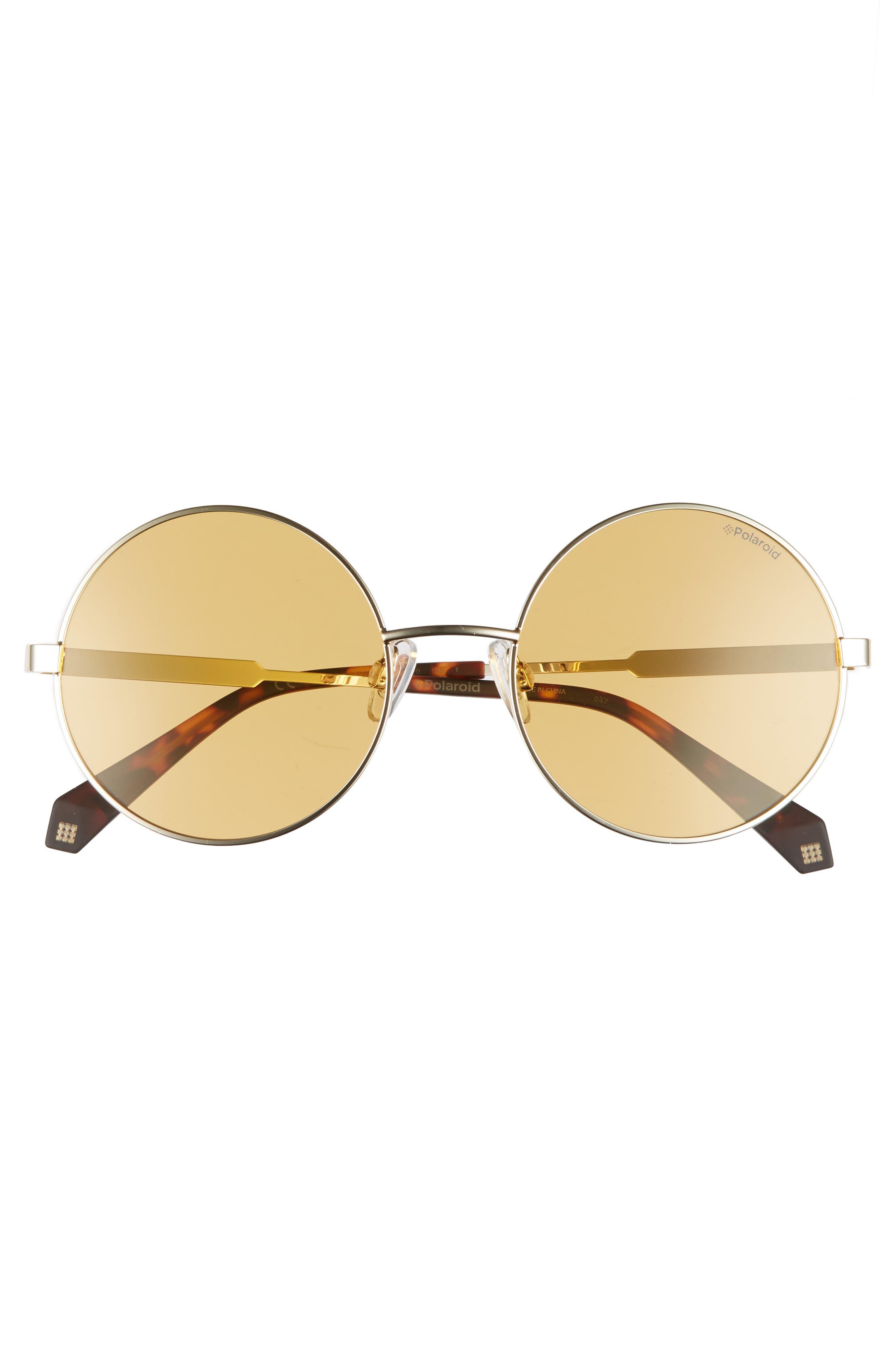 55mm Polarized Round Sunglasses,                             Alternate thumbnail 12, color,