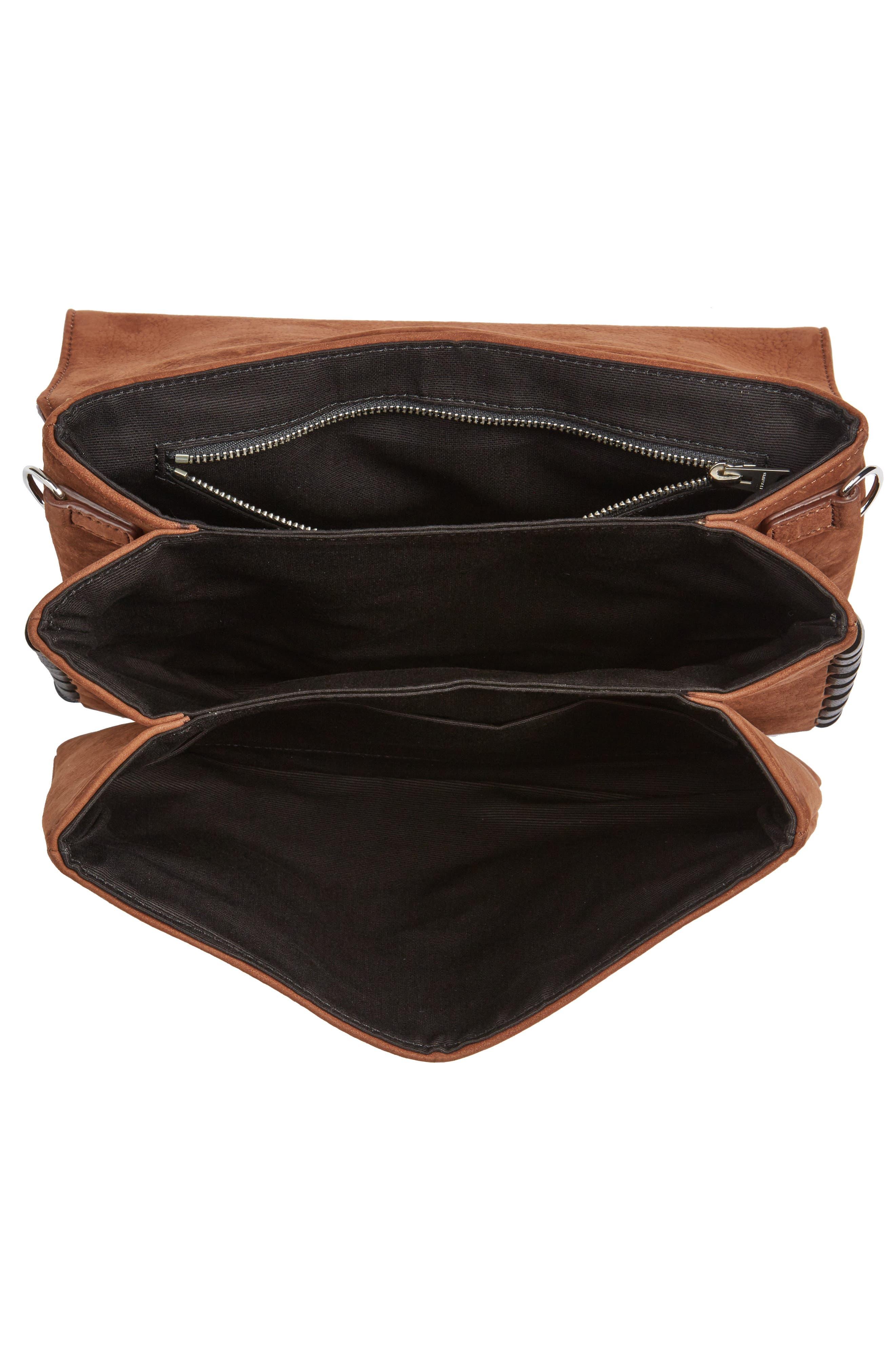 Fin Leather Box Bag,                             Alternate thumbnail 4, color,                             200