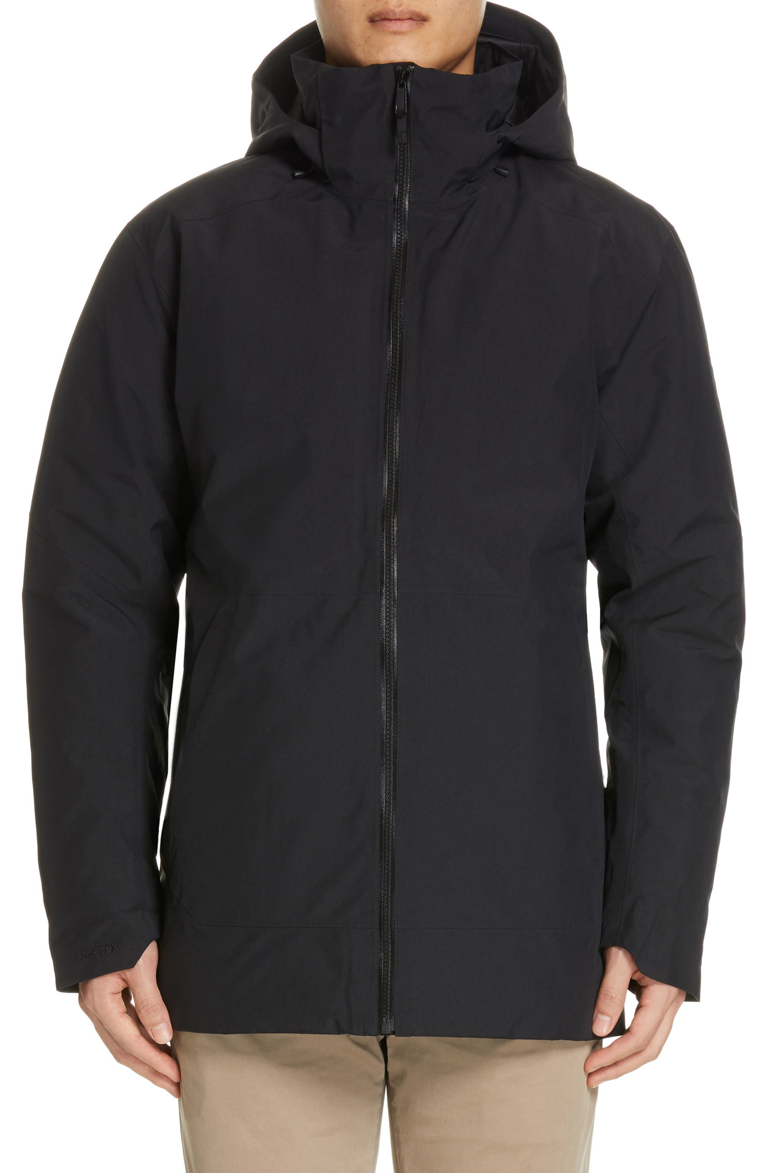 ARC'TERYX,                             Camosun Men's Parka with Removable Hood,                             Alternate thumbnail 2, color,                             BLACK