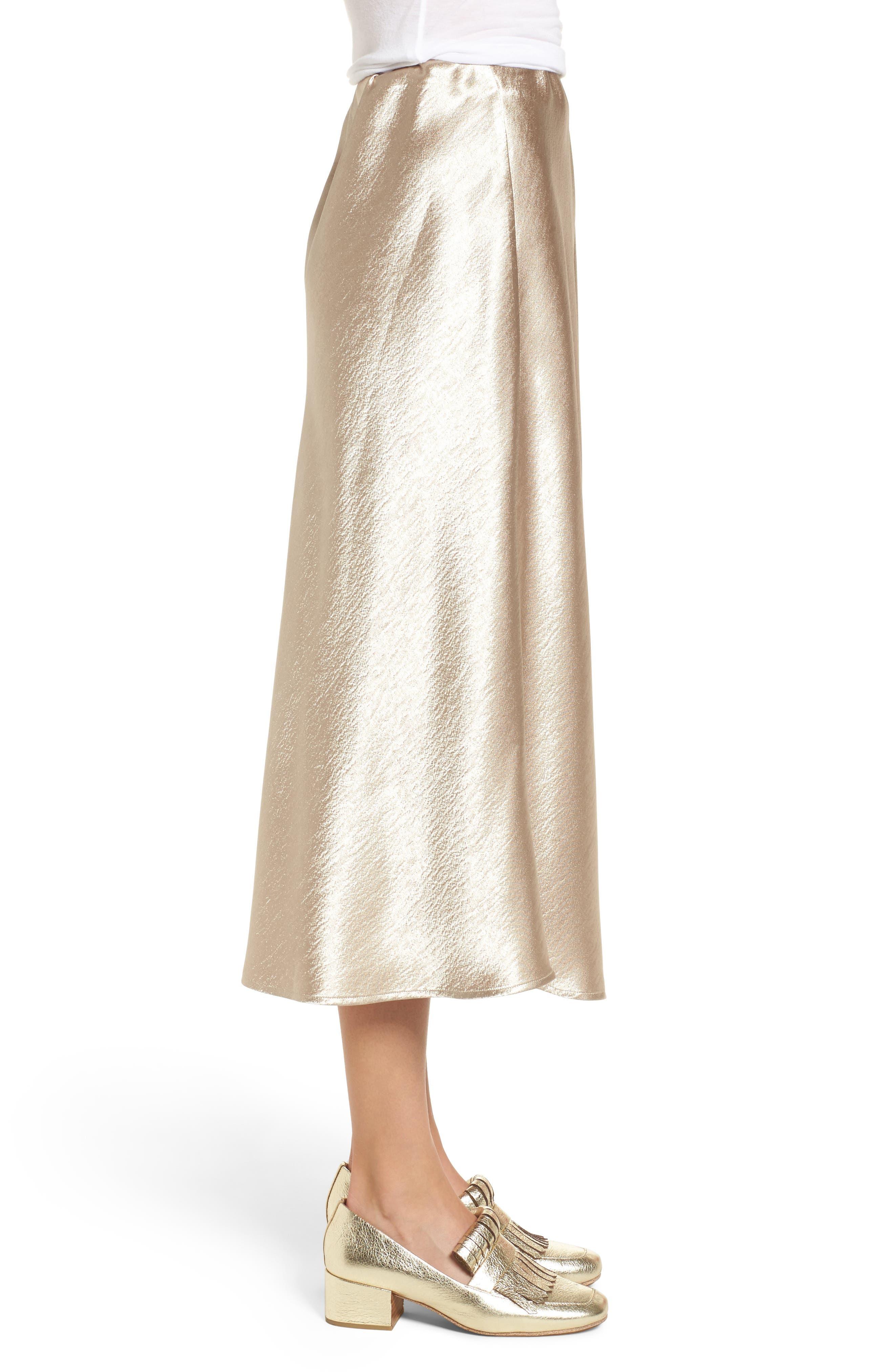 Satin Midi Skirt,                             Alternate thumbnail 6, color,