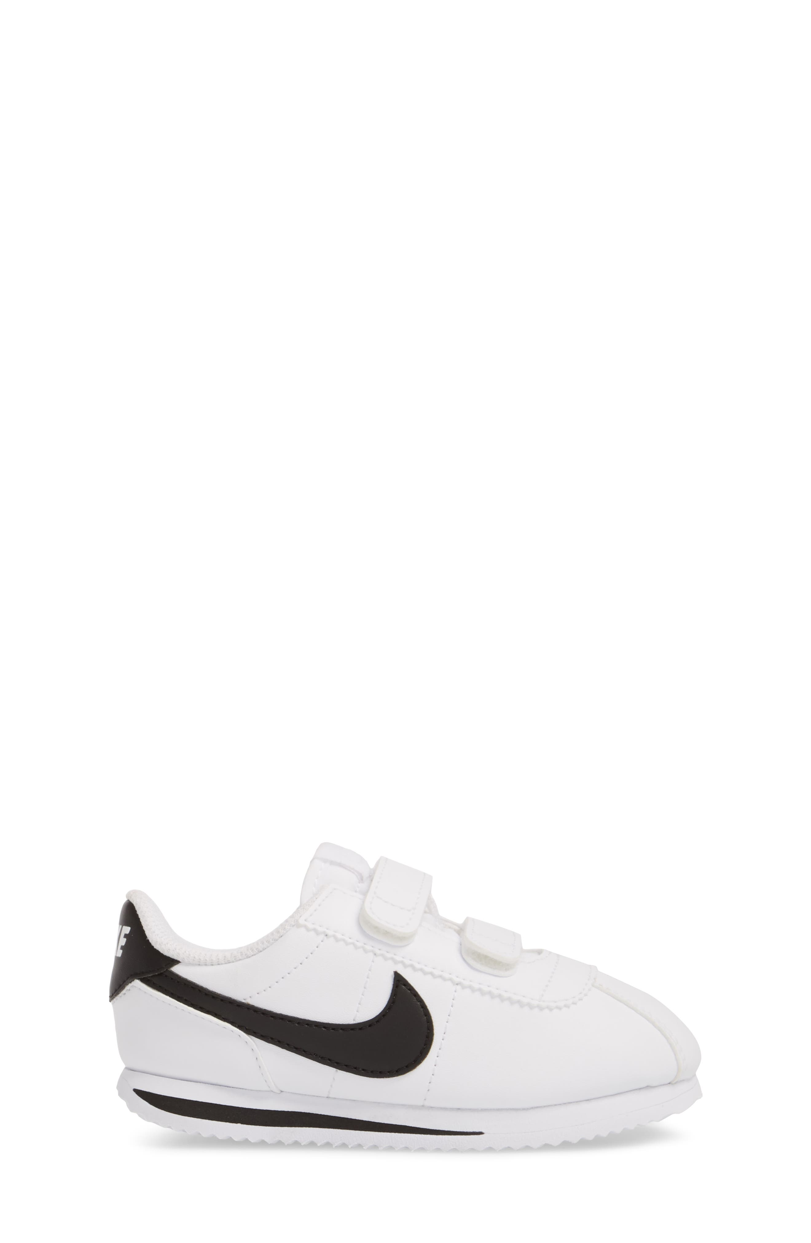 Cortez Basic SL Sneaker,                             Alternate thumbnail 3, color,                             WHITE/ BLACK