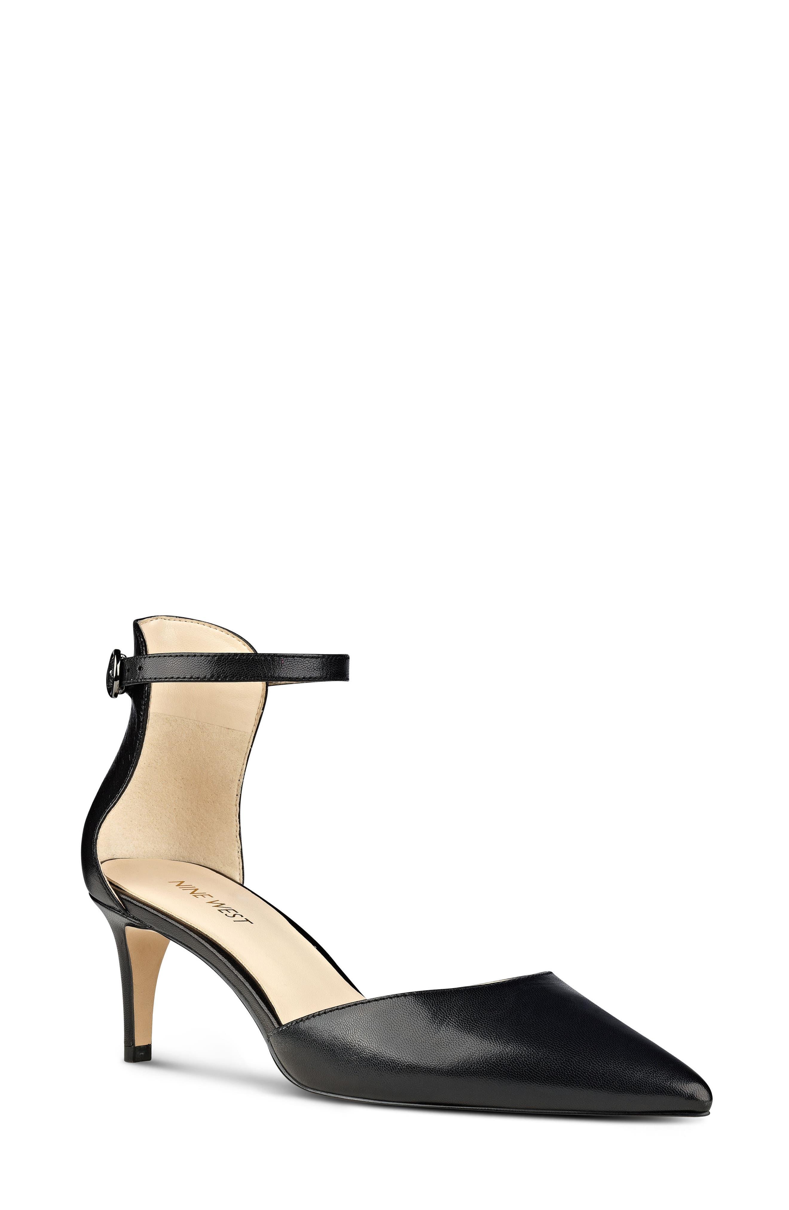 NINE WEST,                             Sharmila Ankle Strap d'Orsay Pump,                             Main thumbnail 1, color,                             001