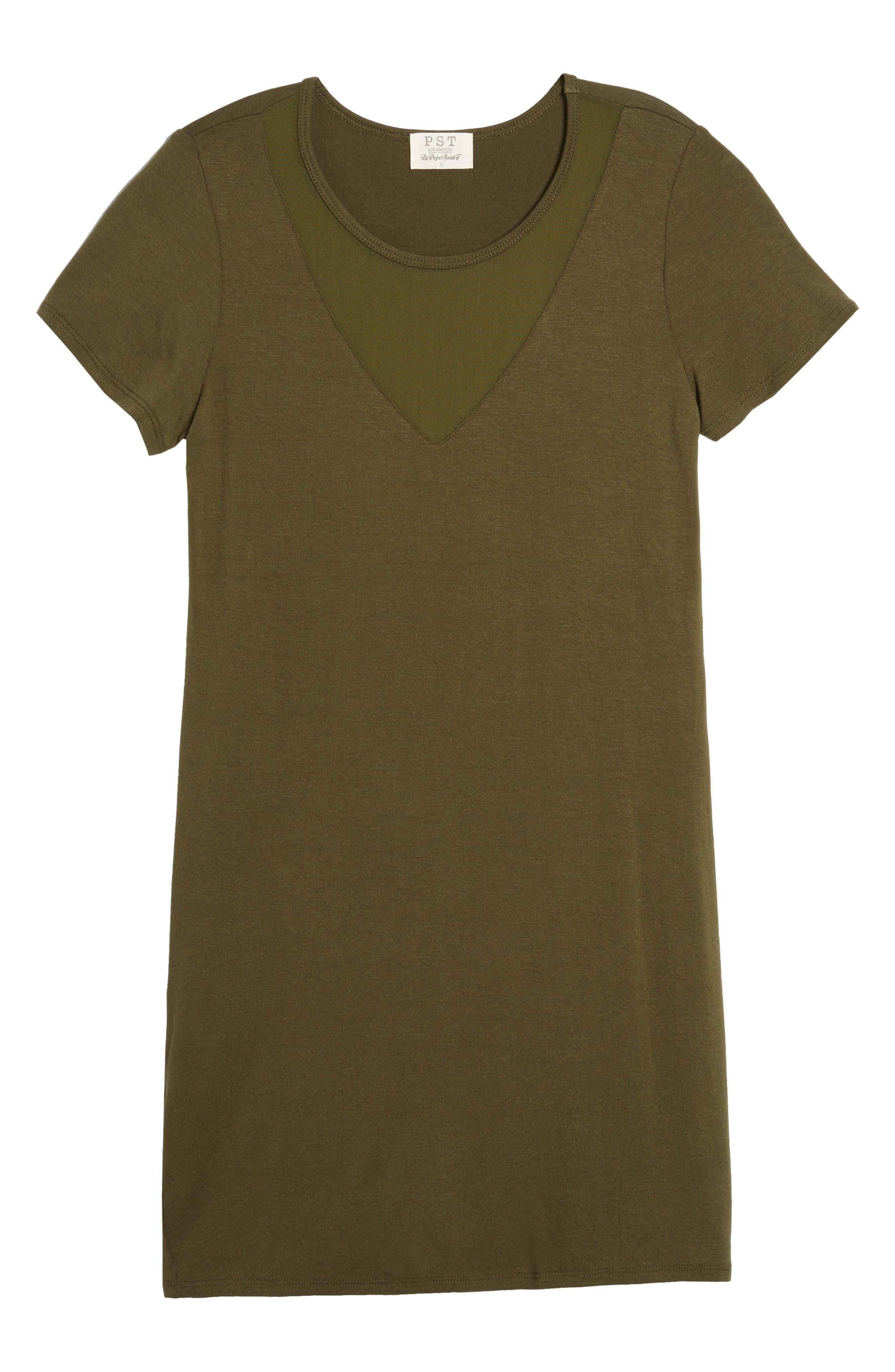 Mesh Inset Dress,                             Alternate thumbnail 12, color,