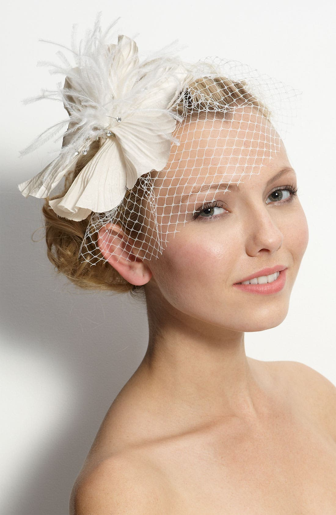 'Perfect Veil' Headband,                         Main,                         color, 900