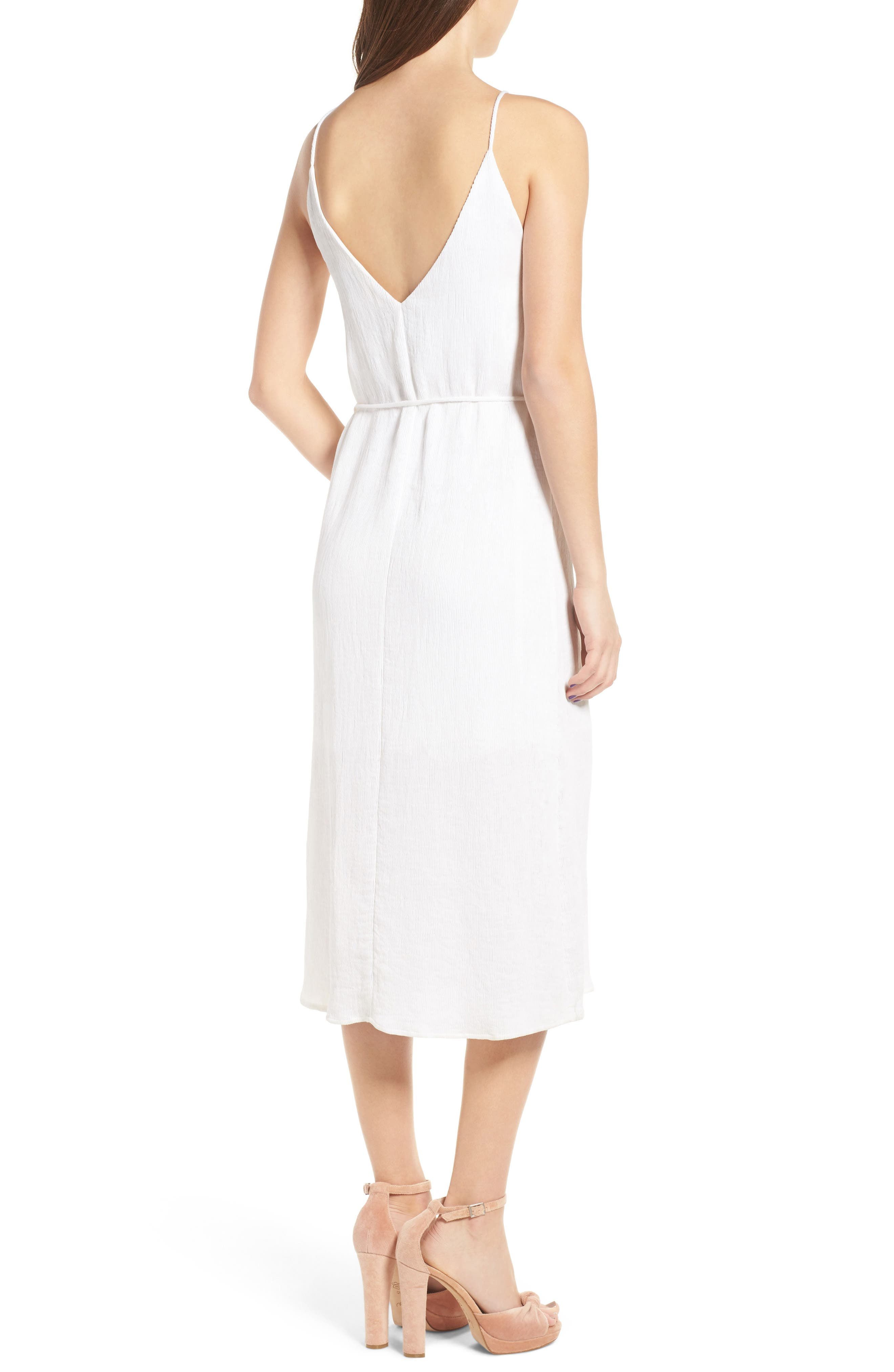 Tie Waist Midi Dress,                             Alternate thumbnail 2, color,