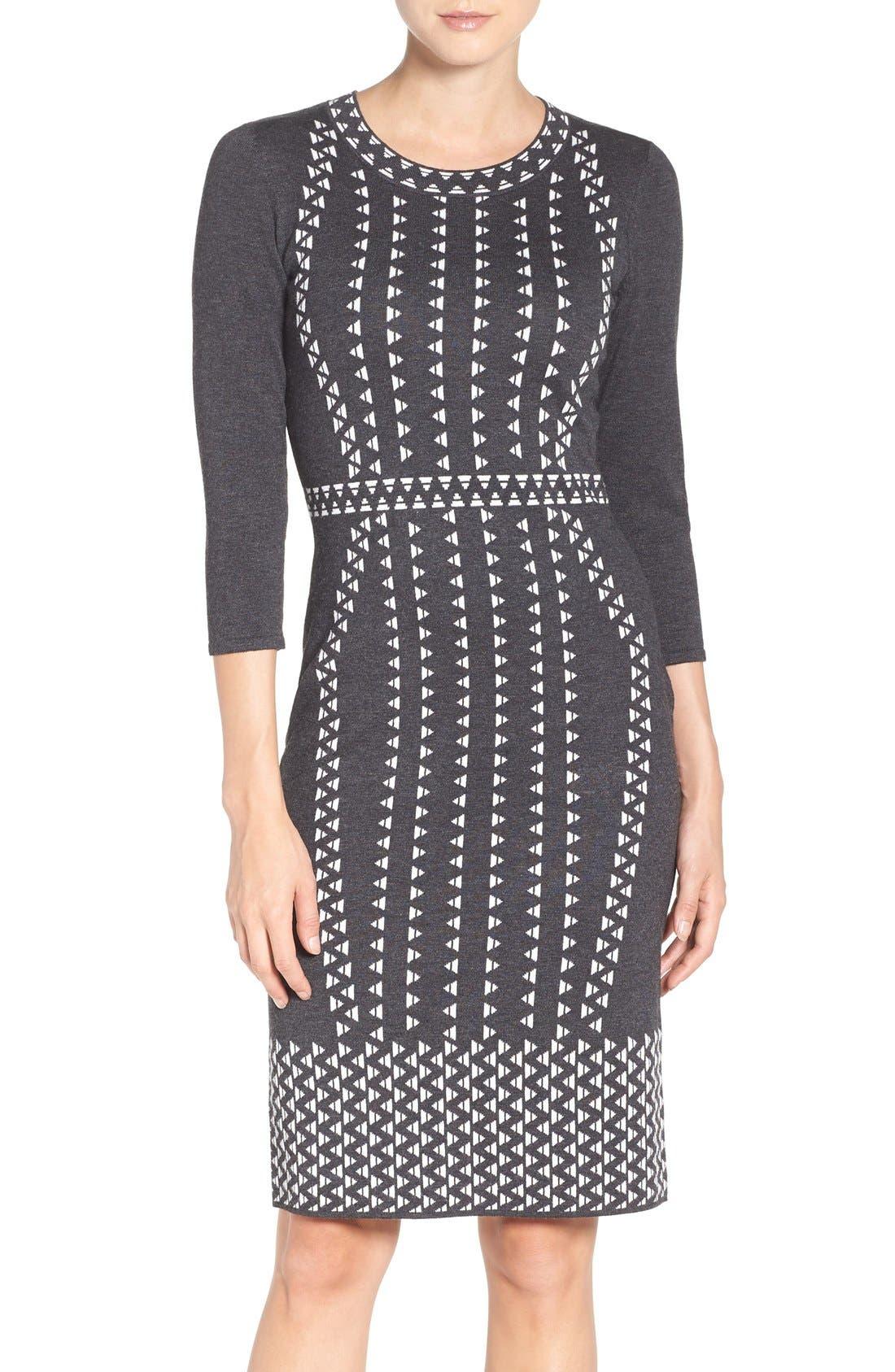 TAYLOR DRESSES,                             Sweater Sheath Dress,                             Main thumbnail 1, color,                             021
