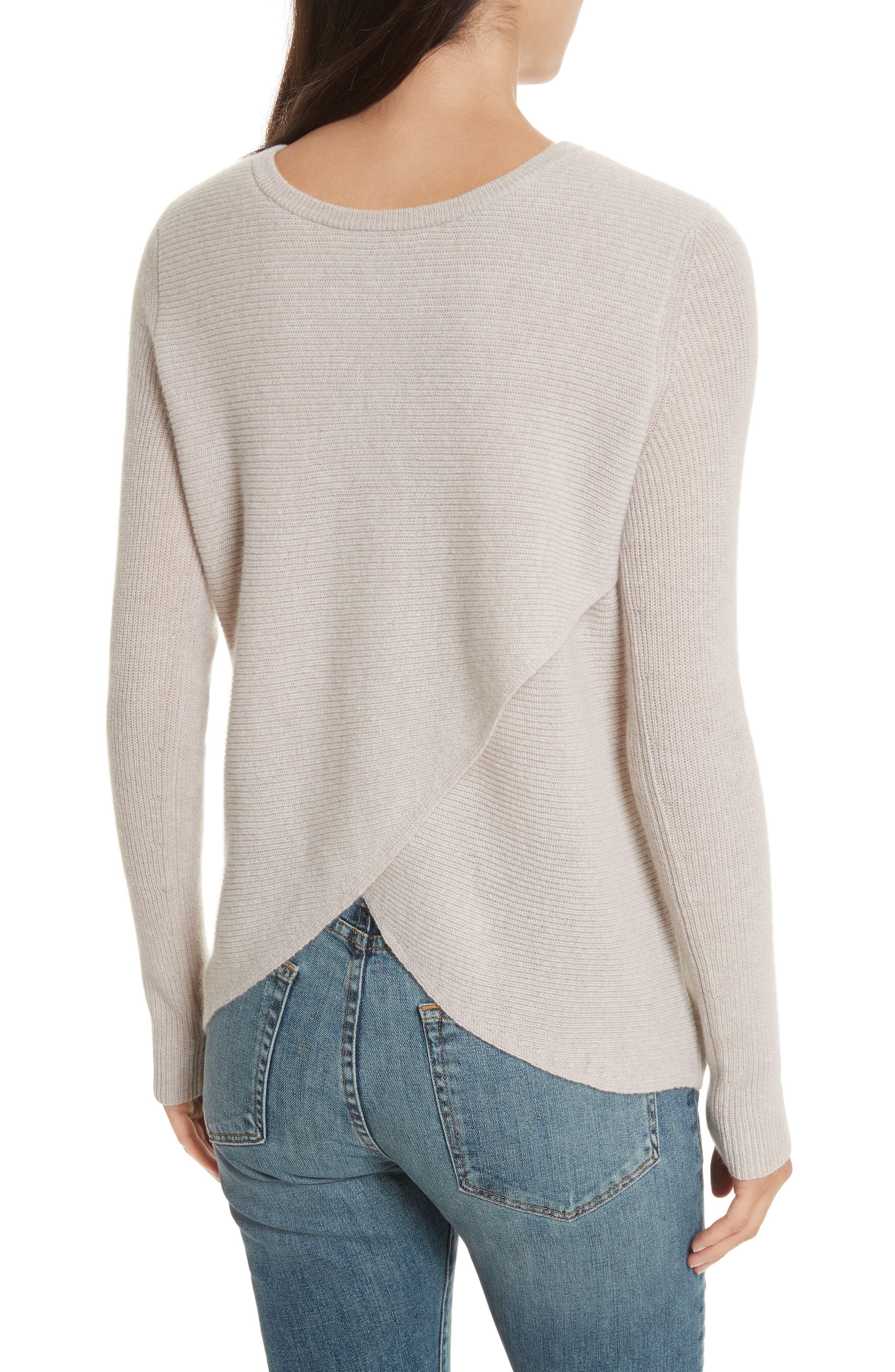 Cashmere Reversible Surplice Sweater,                             Alternate thumbnail 6, color,